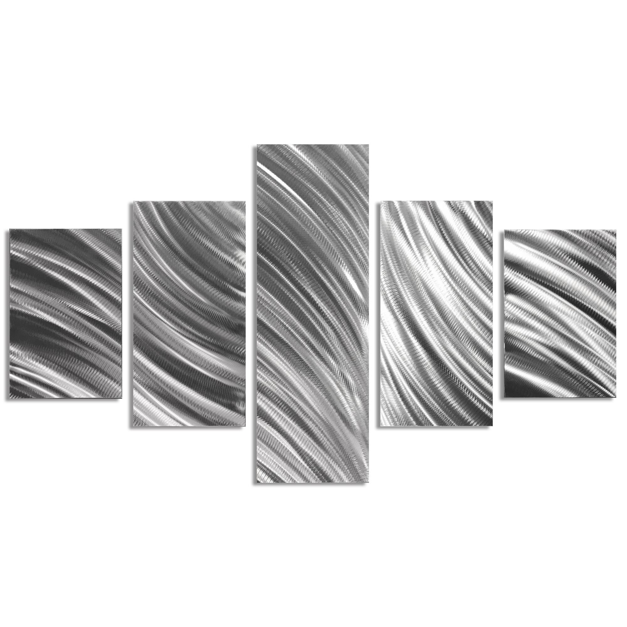 Columnar Flow 64x36in. Natural Aluminum Abstract Decor