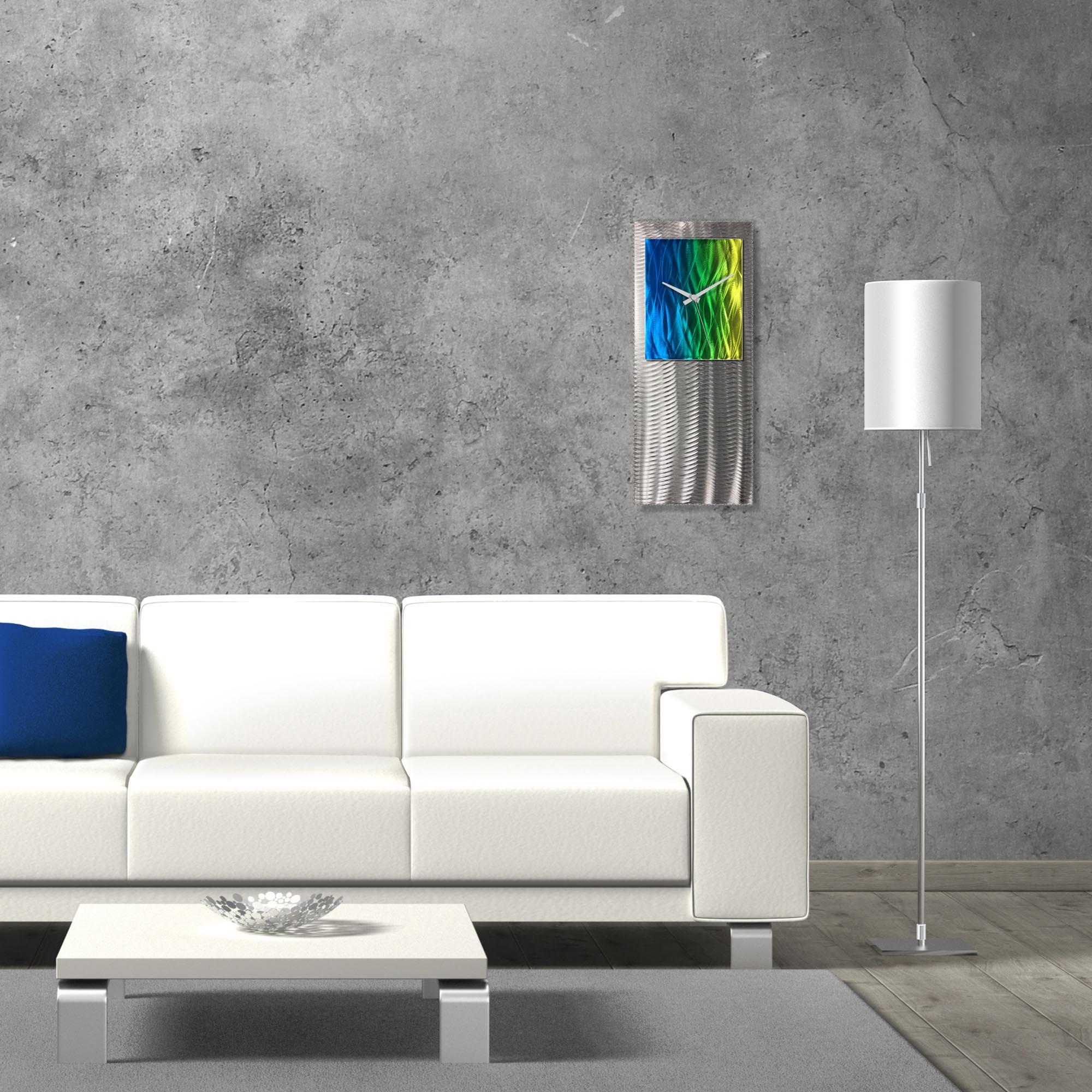 Metal Art Studio Abstract Decor Elements Studio Clock 10in x 24in - Lifestyle View