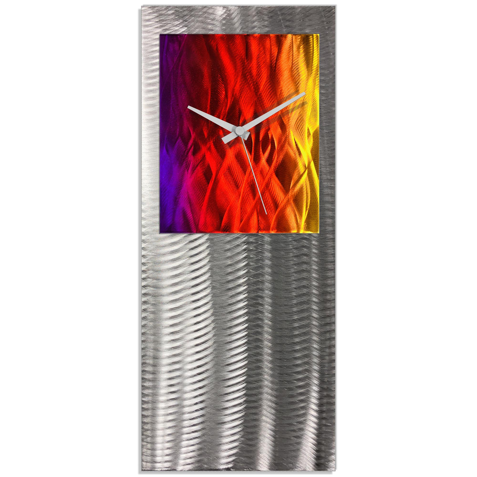Metal Art Studio Abstract Decor Sunrise Studio Clock 10in x 24in