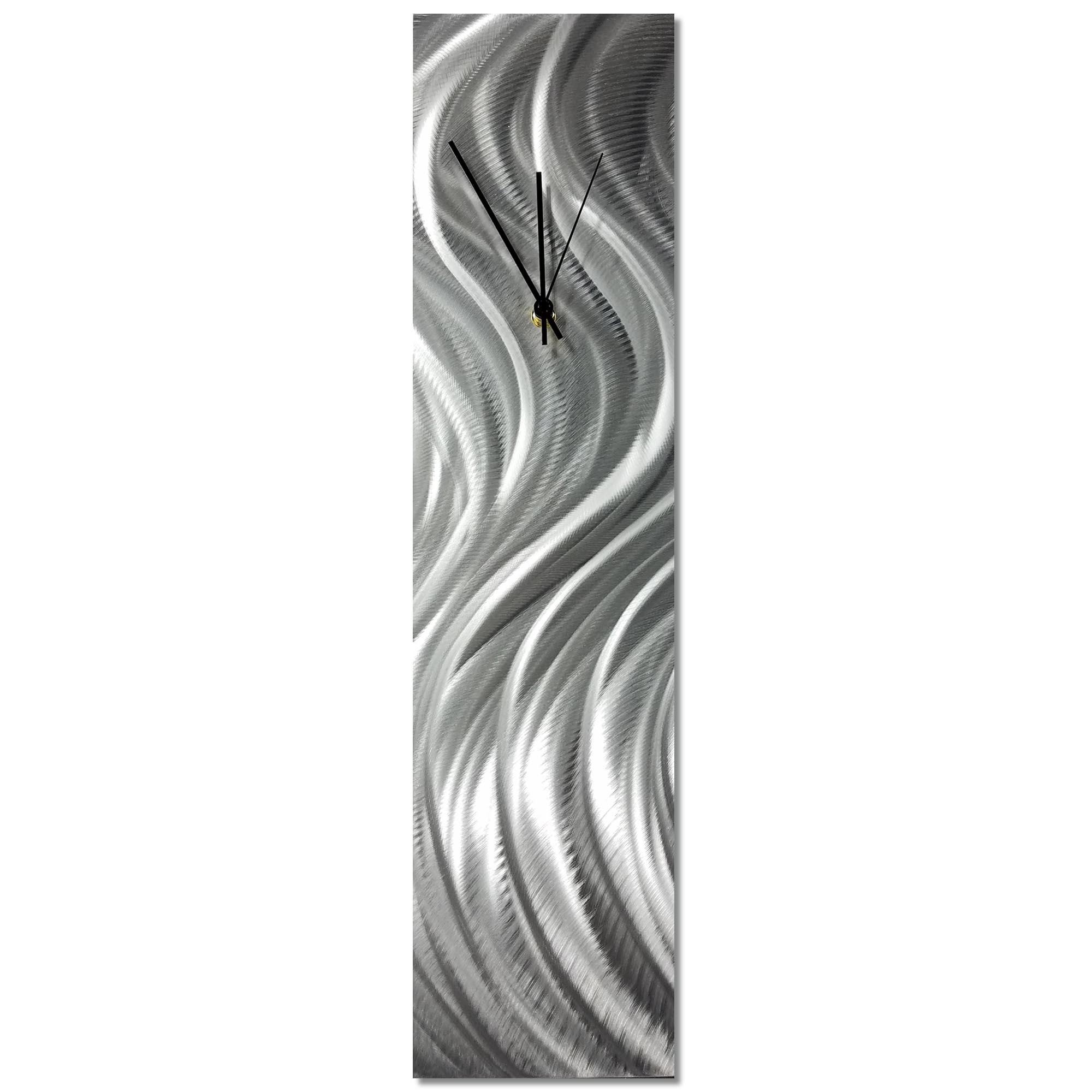 Silver River Clock 6x24in. Natural Aluminum