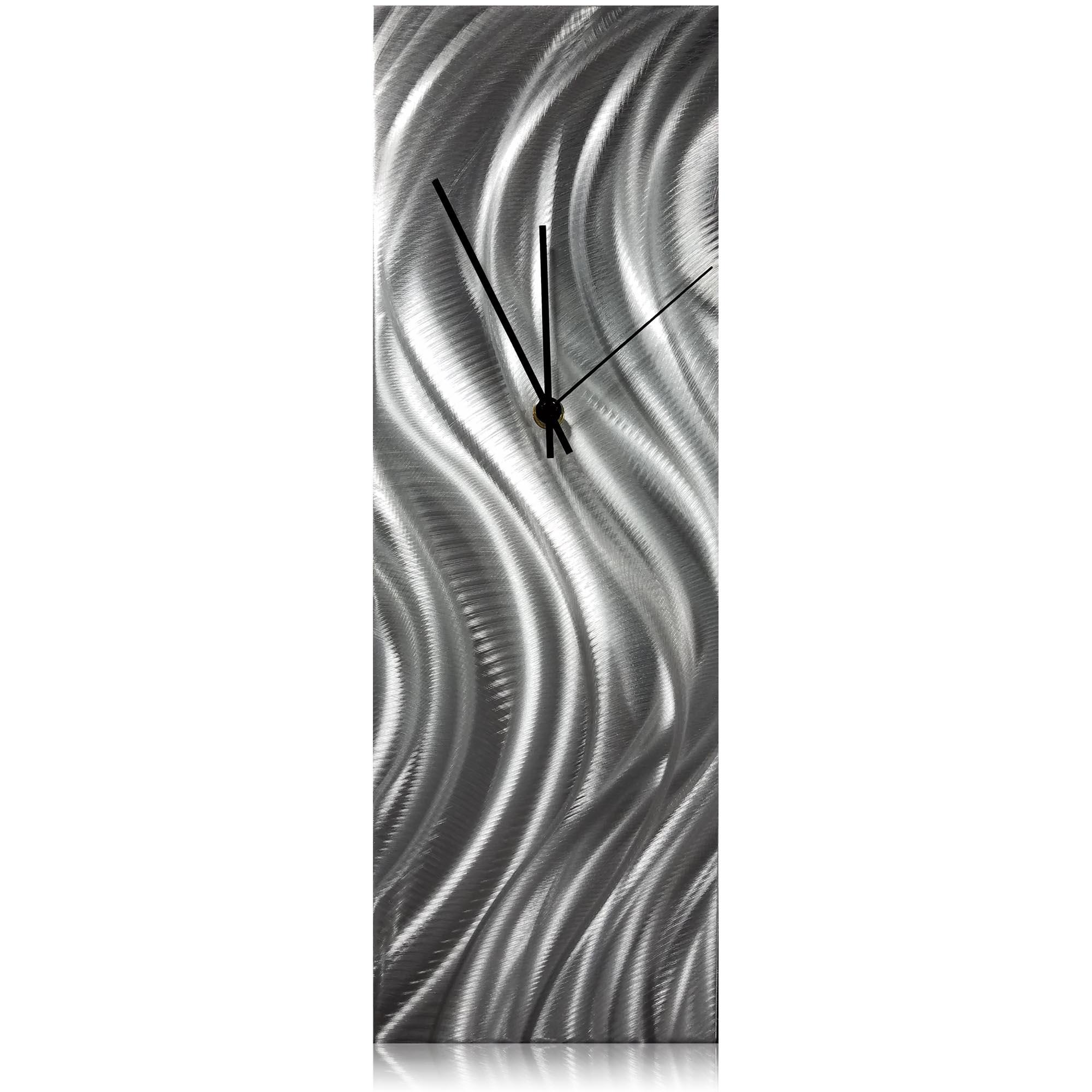 Silver River Desk Clock 6x18in. Natural Aluminum