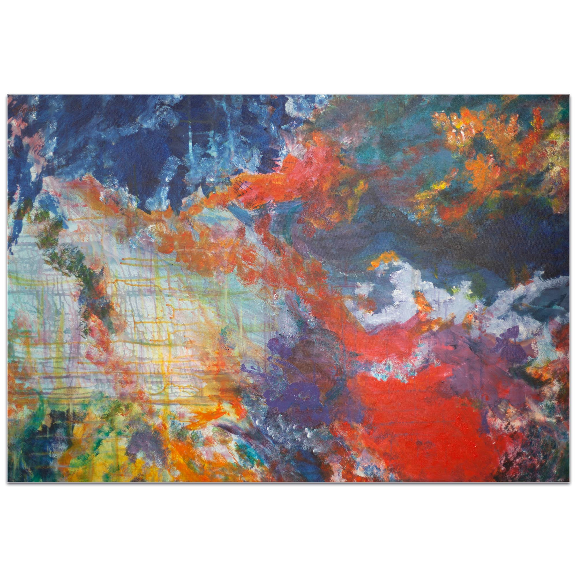 Abstract Wall Art 'Clouds of Color' - Urban Decor on Metal or Plexiglass - Image 2