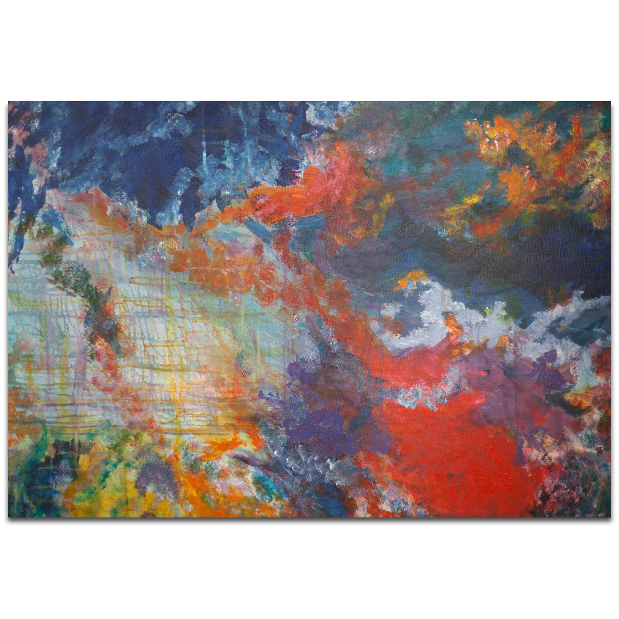 Abstract Wall Art 'Clouds of Color' - Urban Decor on Metal or Plexiglass