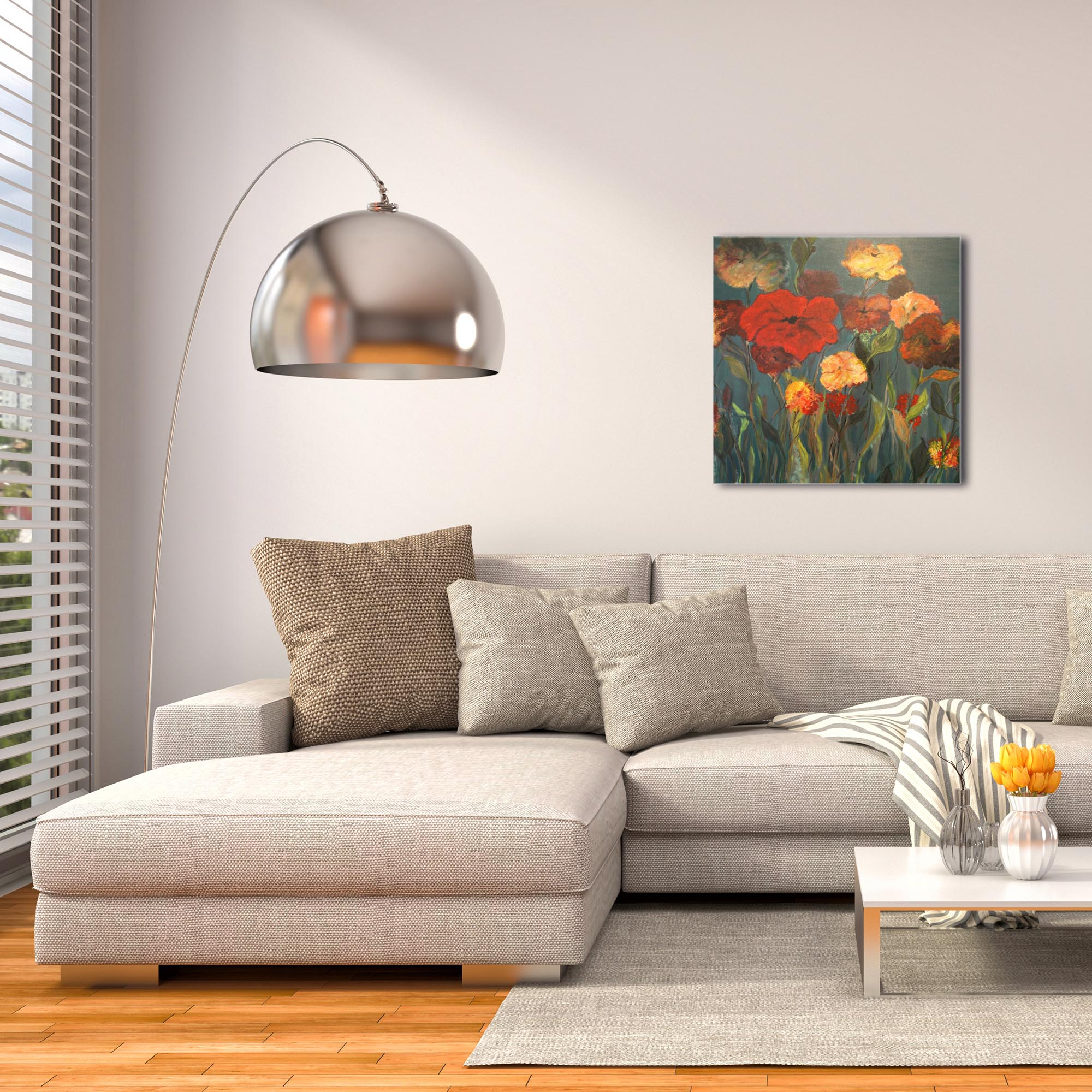 Traditional Wall Art 'Flower Patch' - Flower Bouquet Decor on Metal or Plexiglass - Image 3