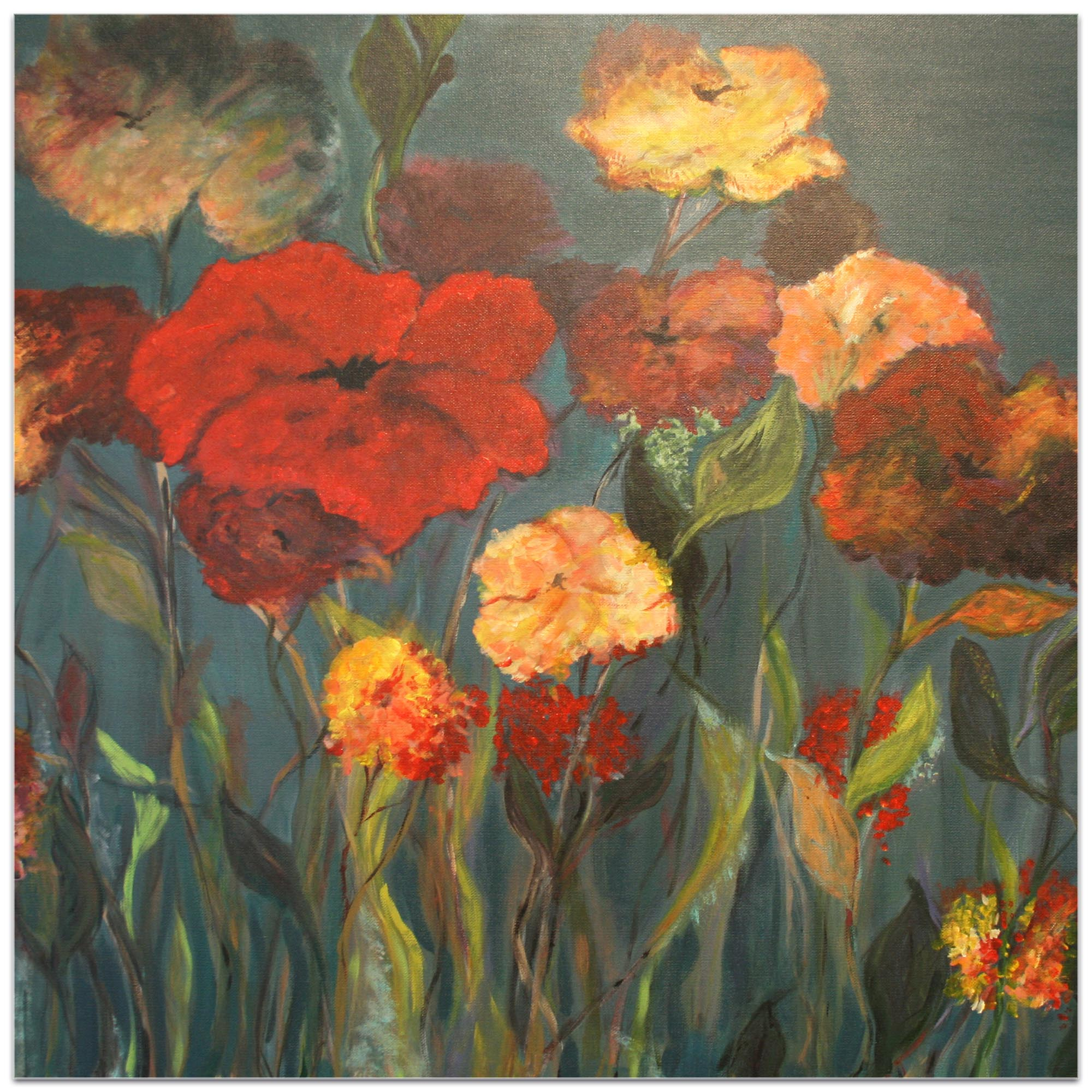 Traditional Wall Art 'Flower Patch' - Flower Bouquet Decor on Metal or Plexiglass - Image 2