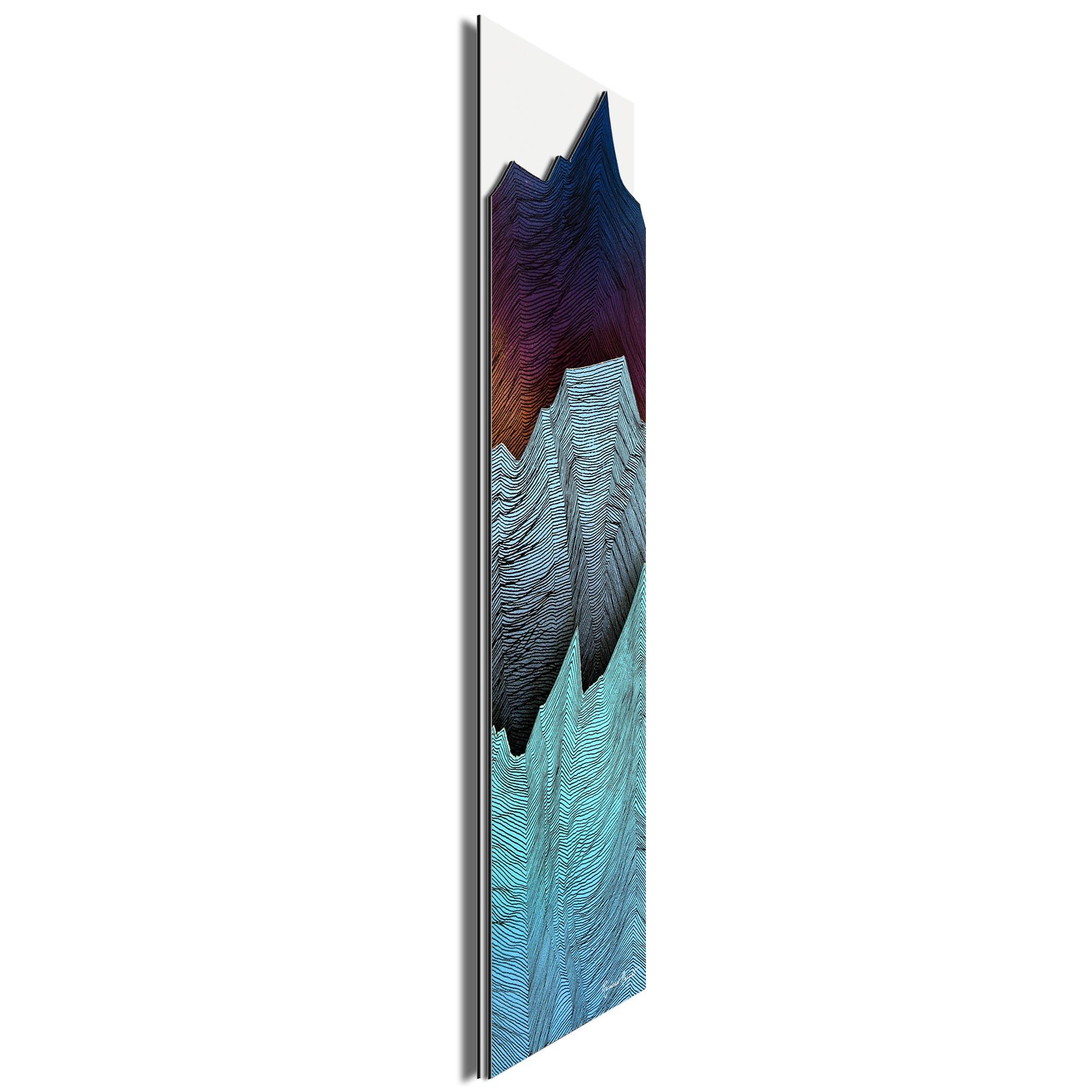 Cool Peaks by Richard Knight - Ltd. Ed. Minimalist Abstract Landscape Art - Image 2