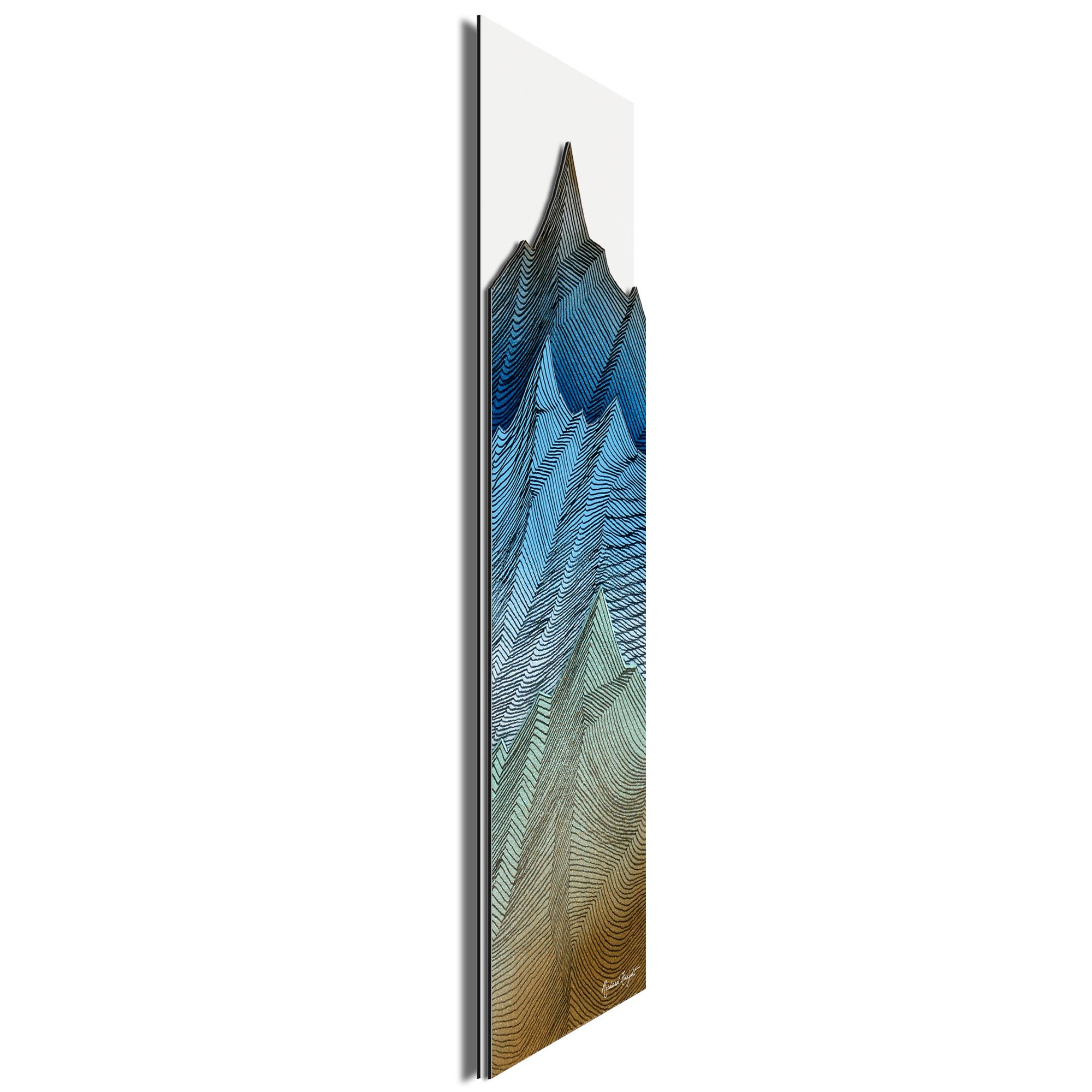 Organic Peaks by Richard Knight - Ltd. Ed. Minimalist Abstract Landscape Art - Image 2