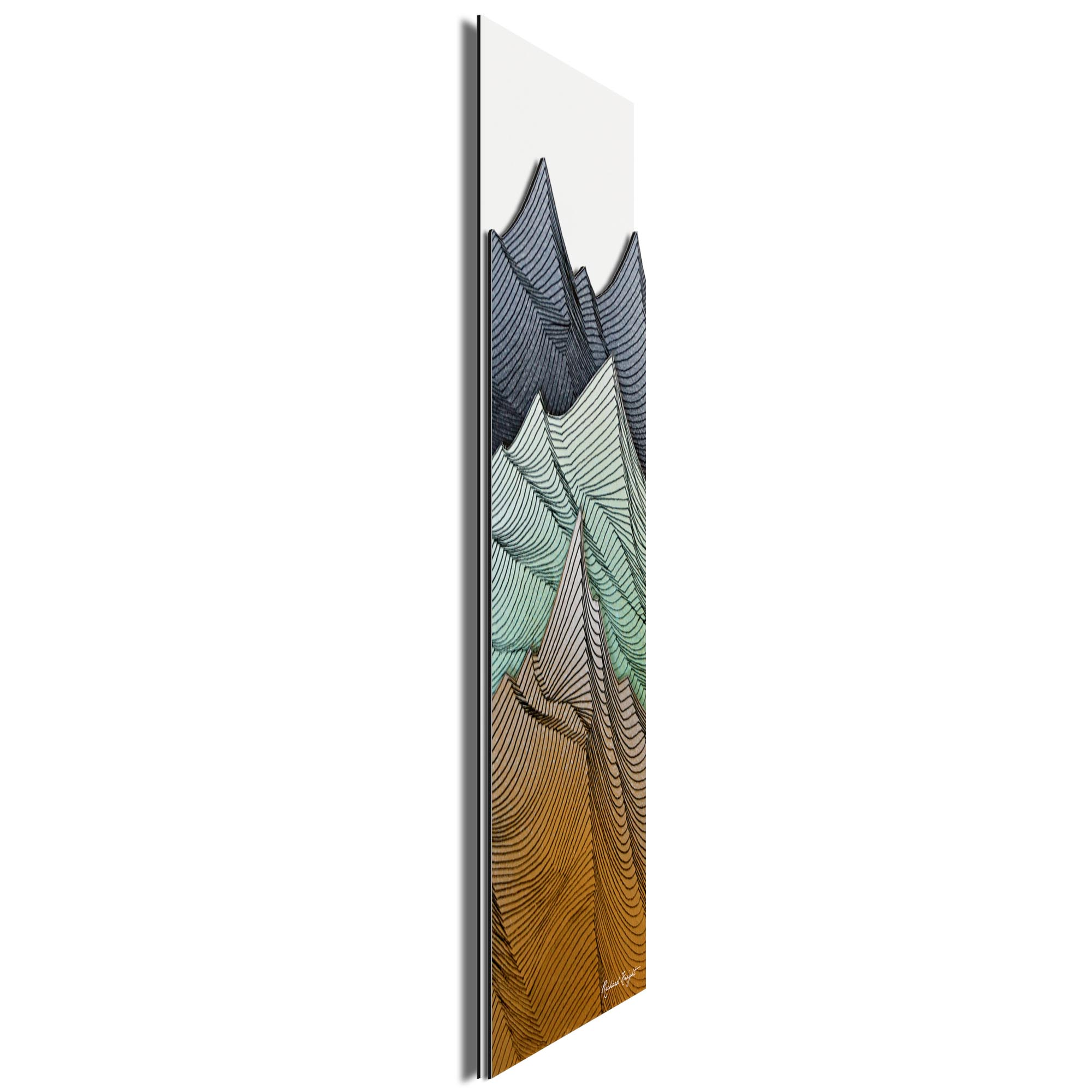 Earth Peaks by Richard Knight - Ltd. Ed. Minimalist Abstract Landscape Art - Image 2