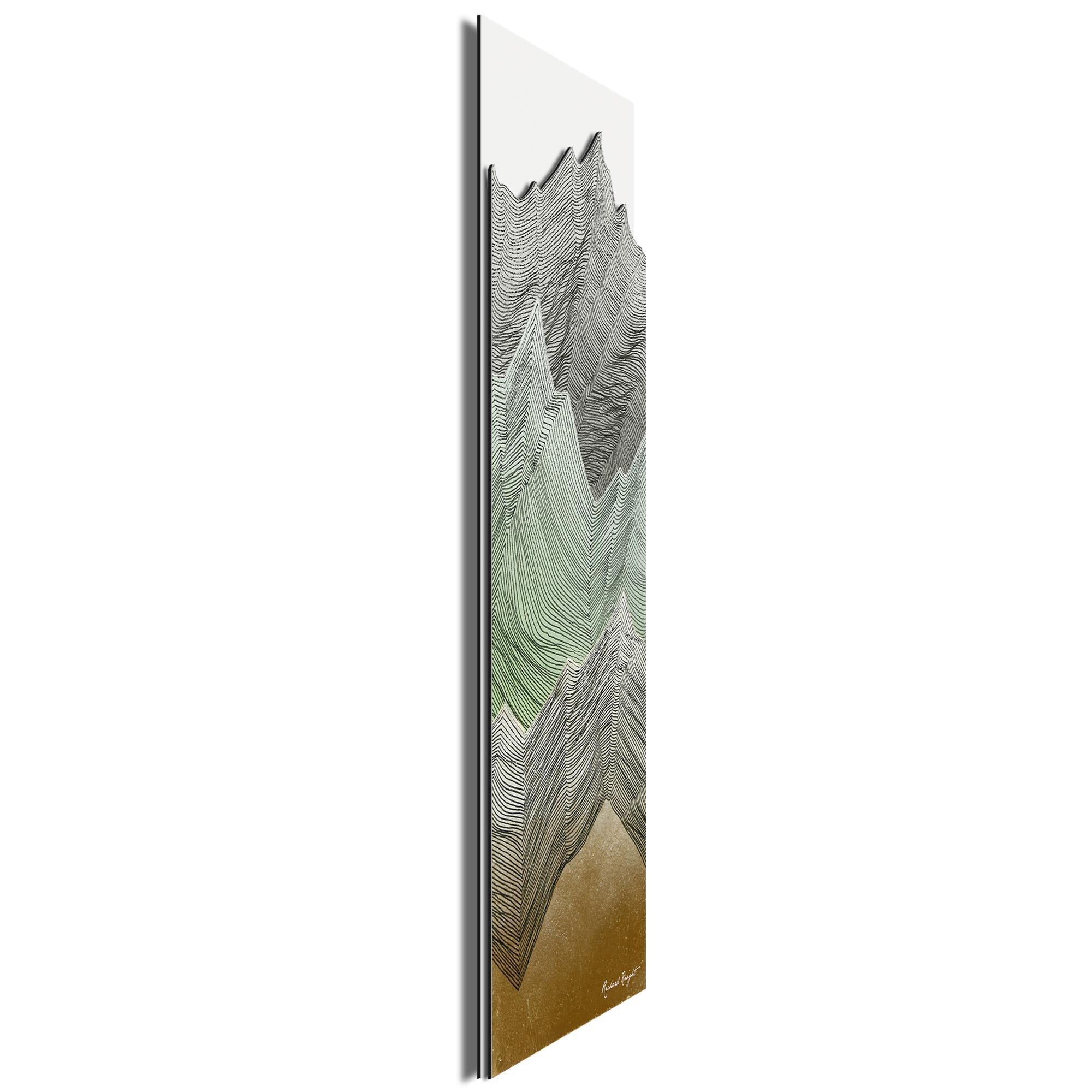 Mint Peaks by Richard Knight - Ltd. Ed. Minimalist Abstract Landscape Art - Image 2