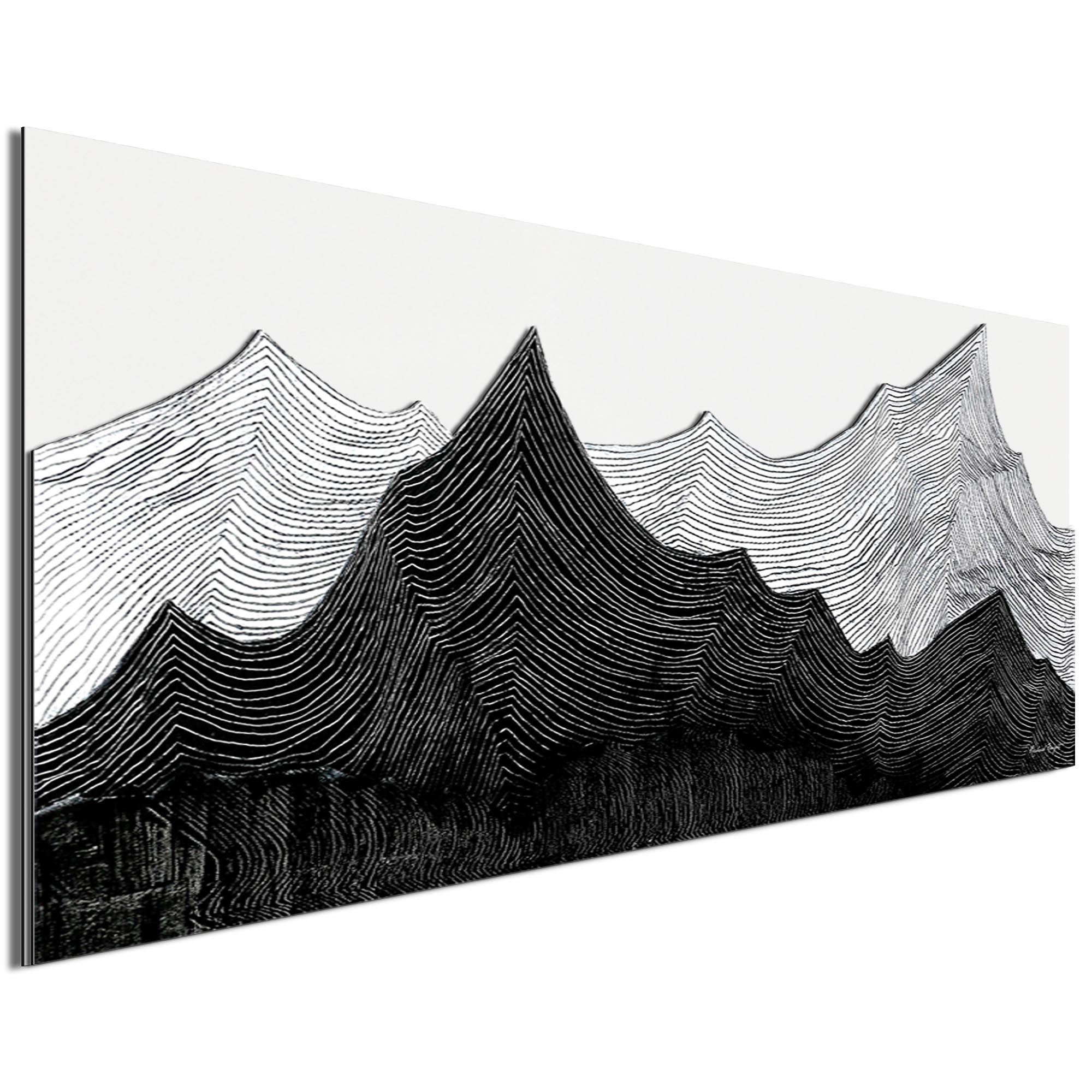 Contrasting Horizon by Richard Knight - Ltd. Ed. Minimalist Abstract Landscape Art - Image 2