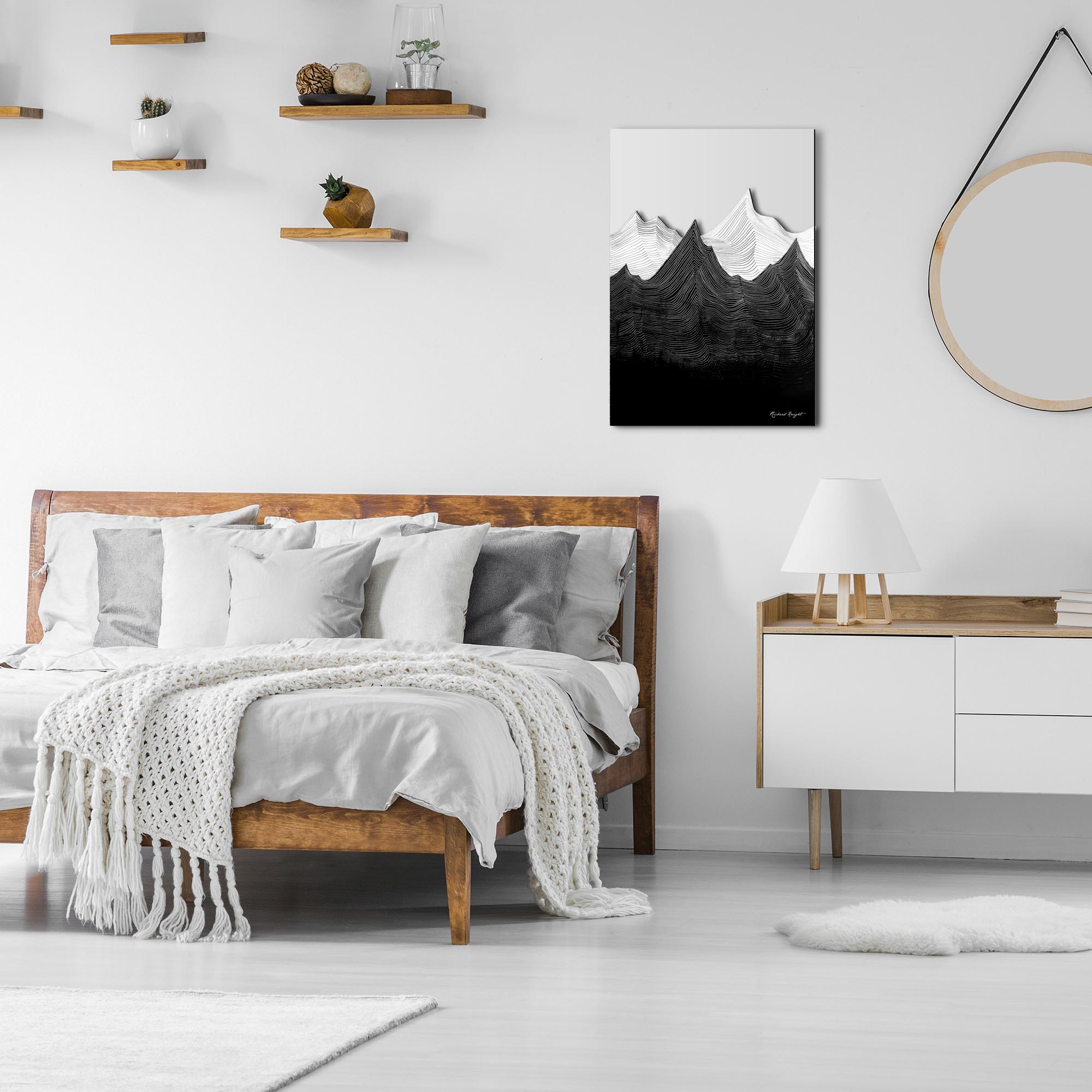Shadow Mountains by Richard Knight - Ltd. Ed. Minimalist Abstract Landscape Art - Lifestyle View