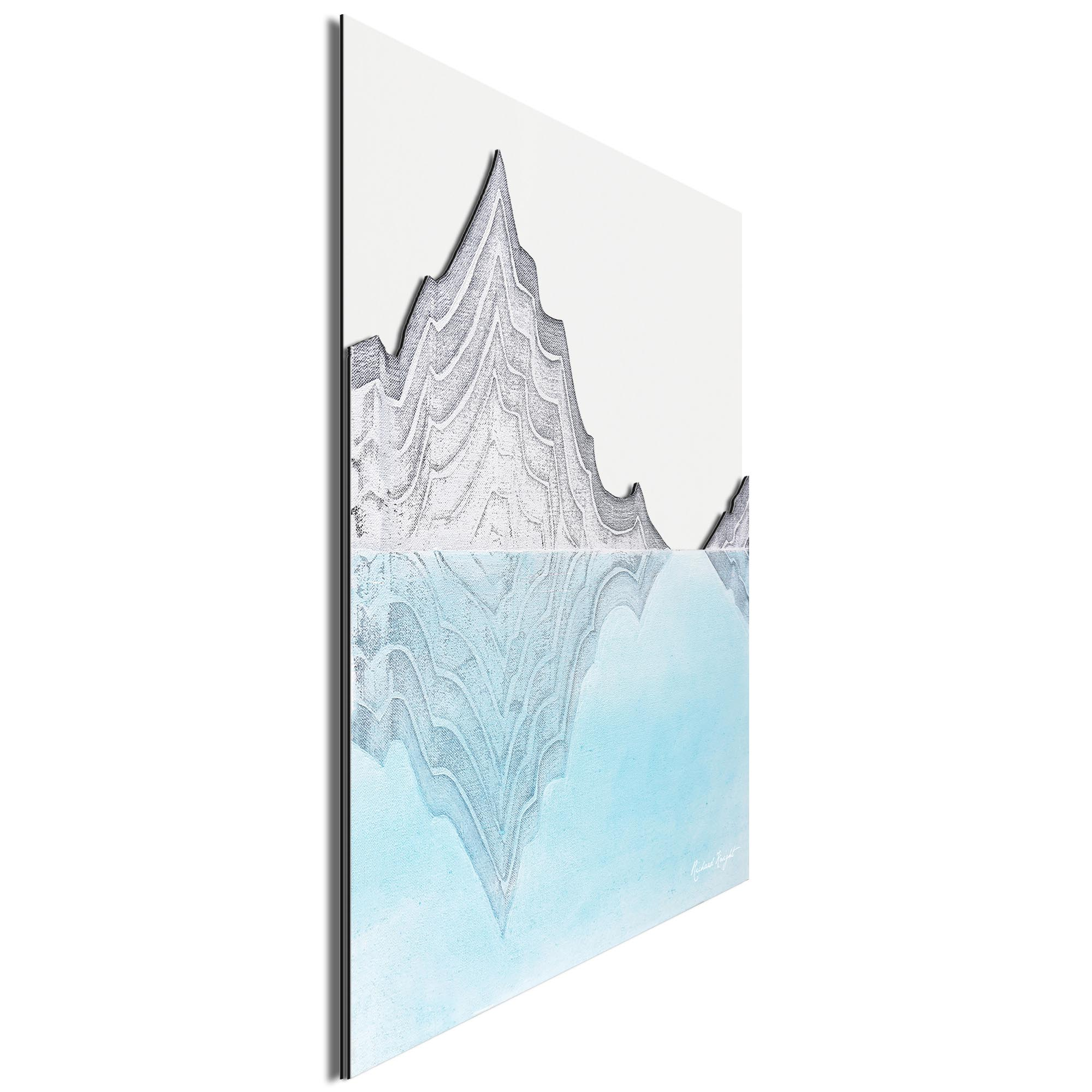 Glacial Mountains by Richard Knight - Ltd. Ed. Minimalist Abstract Landscape Art - Image 2