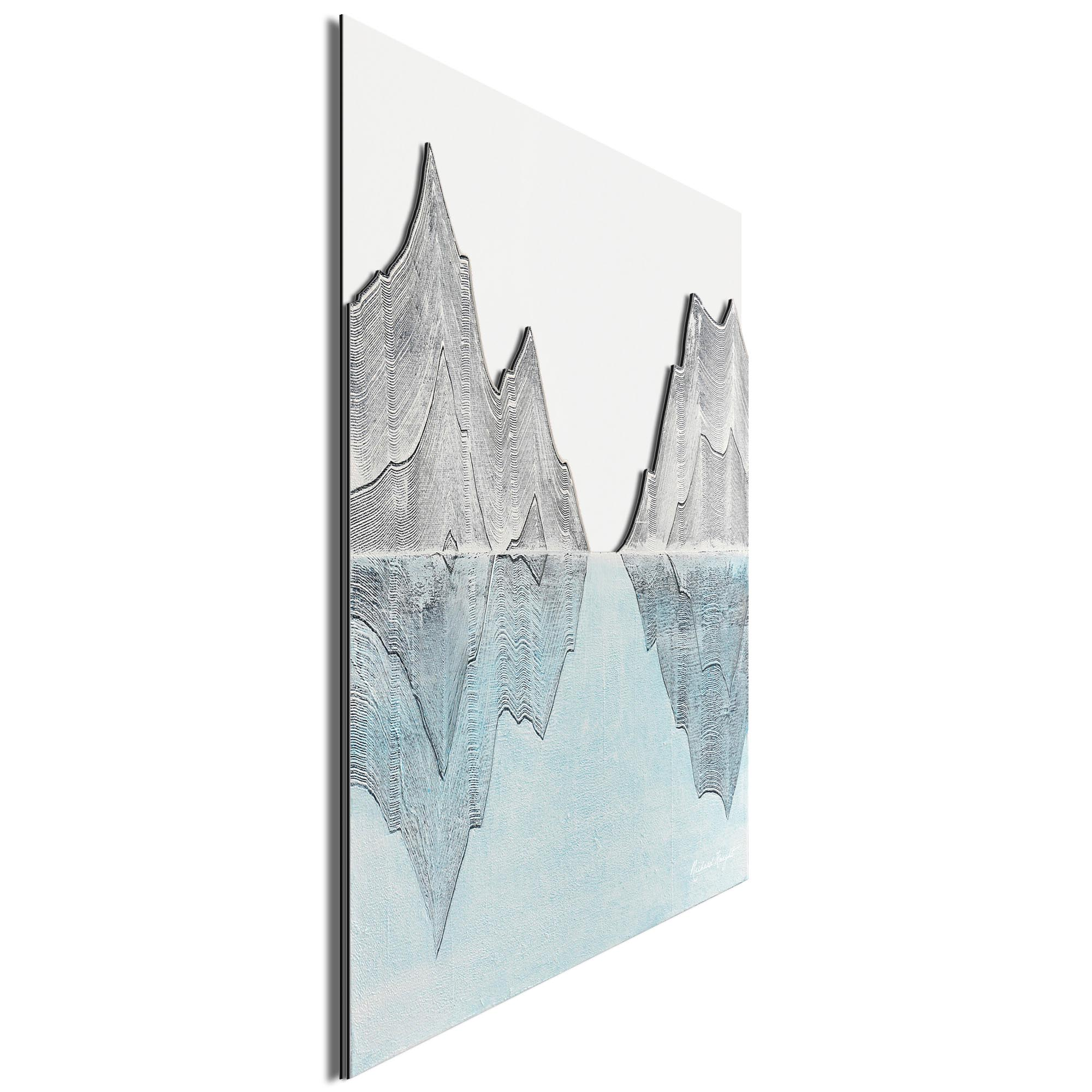 Reflection Peaks by Richard Knight - Ltd. Ed. Minimalist Abstract Landscape Art - Image 2