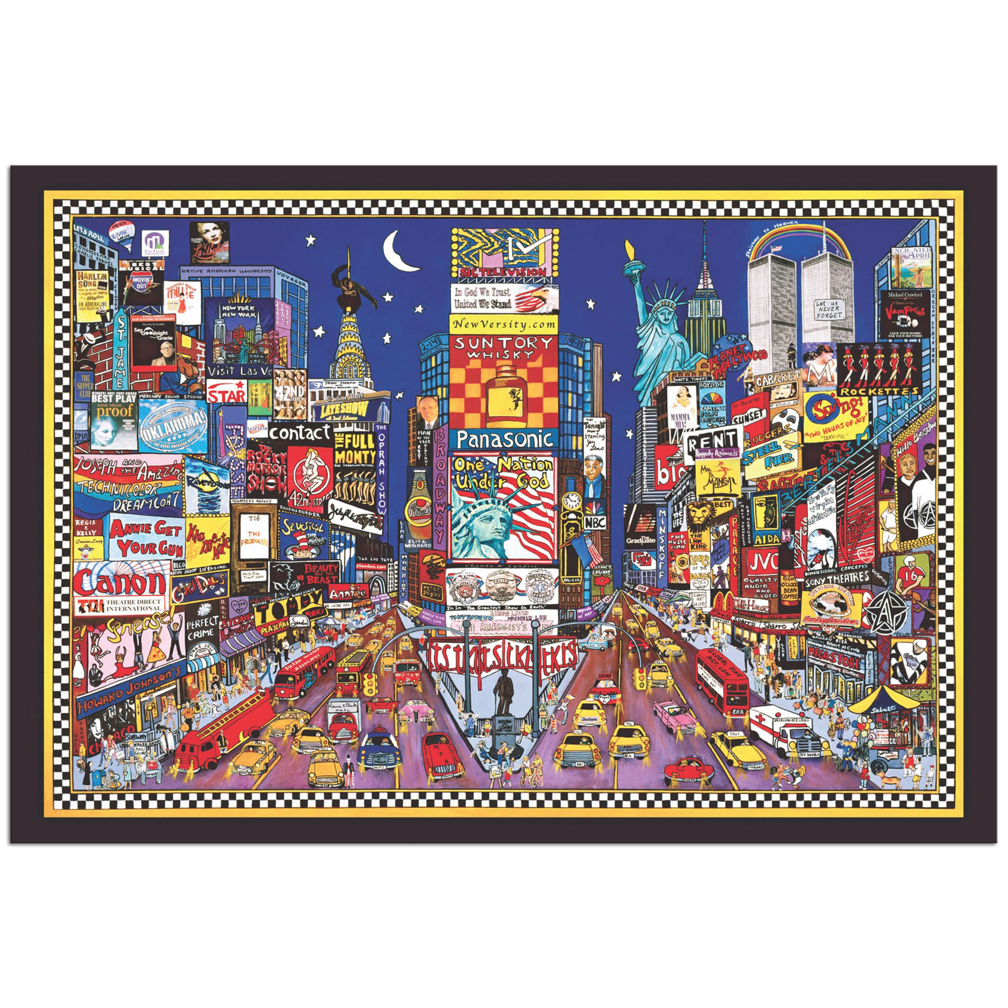 New York City - Abstract Cityscape Painting Print