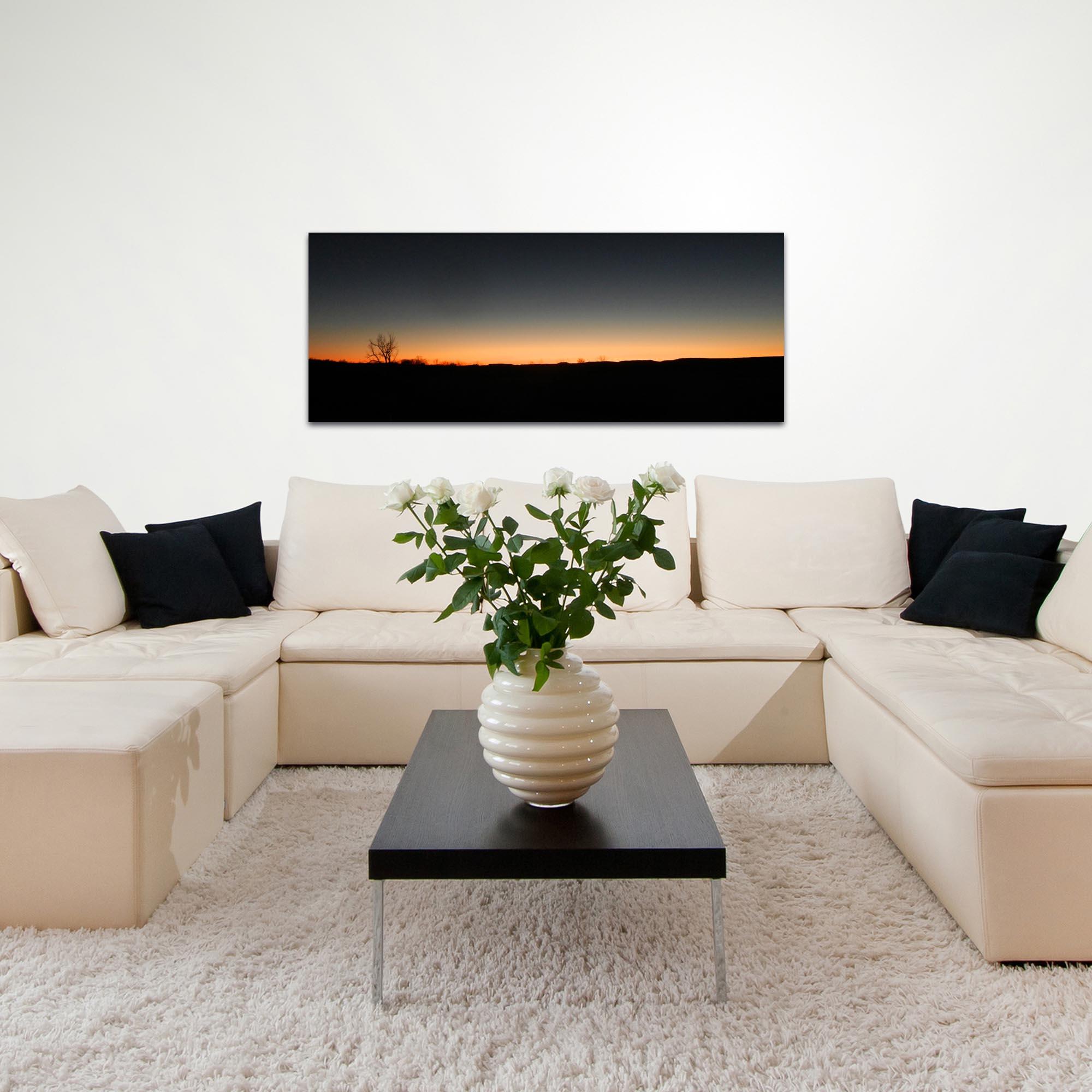 Western Wall Art 'Desert Sunset' - American West Decor on Metal or Plexiglass - Lifestyle View