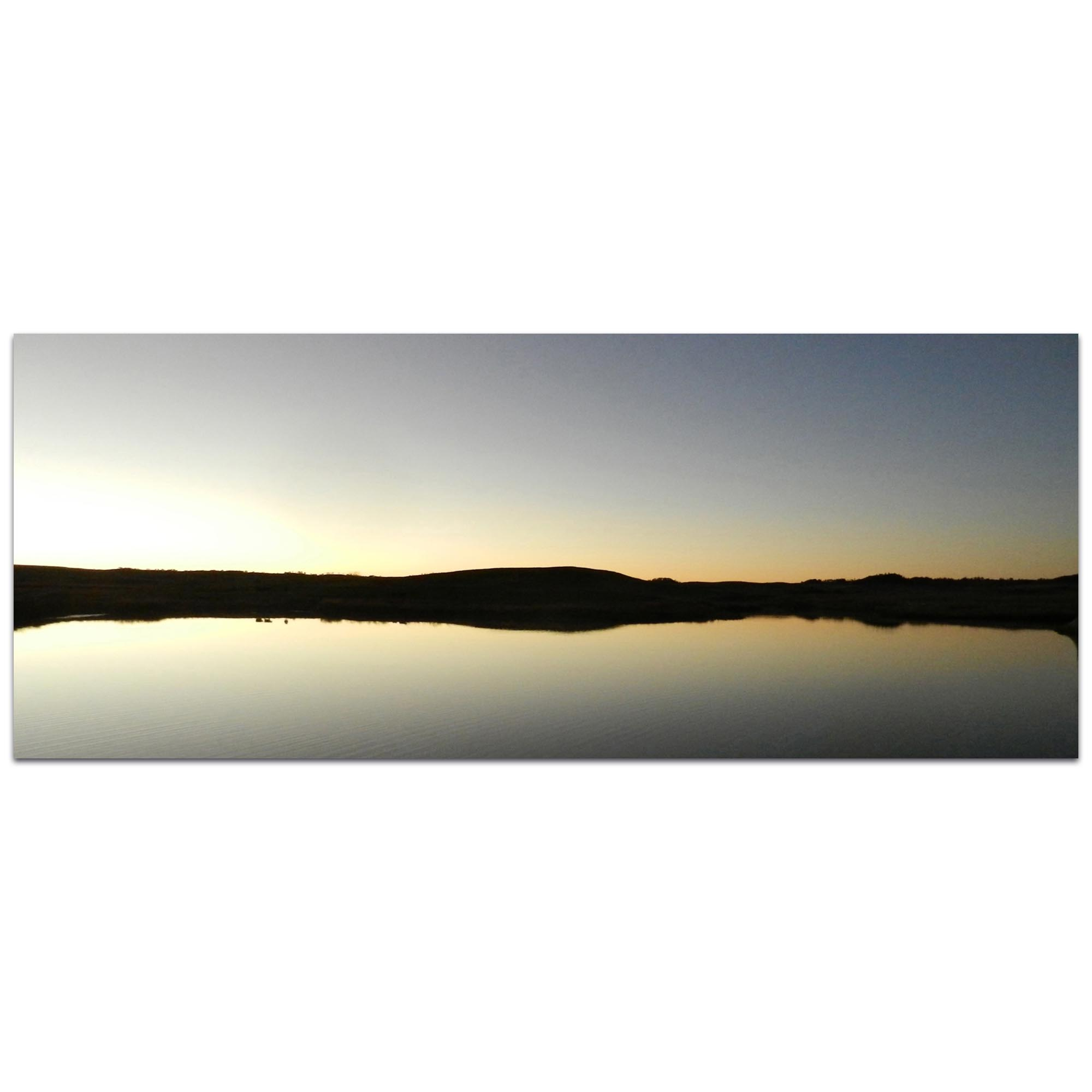Western Wall Art 'Lakeside Sunset' - American West Decor on Metal or Plexiglass