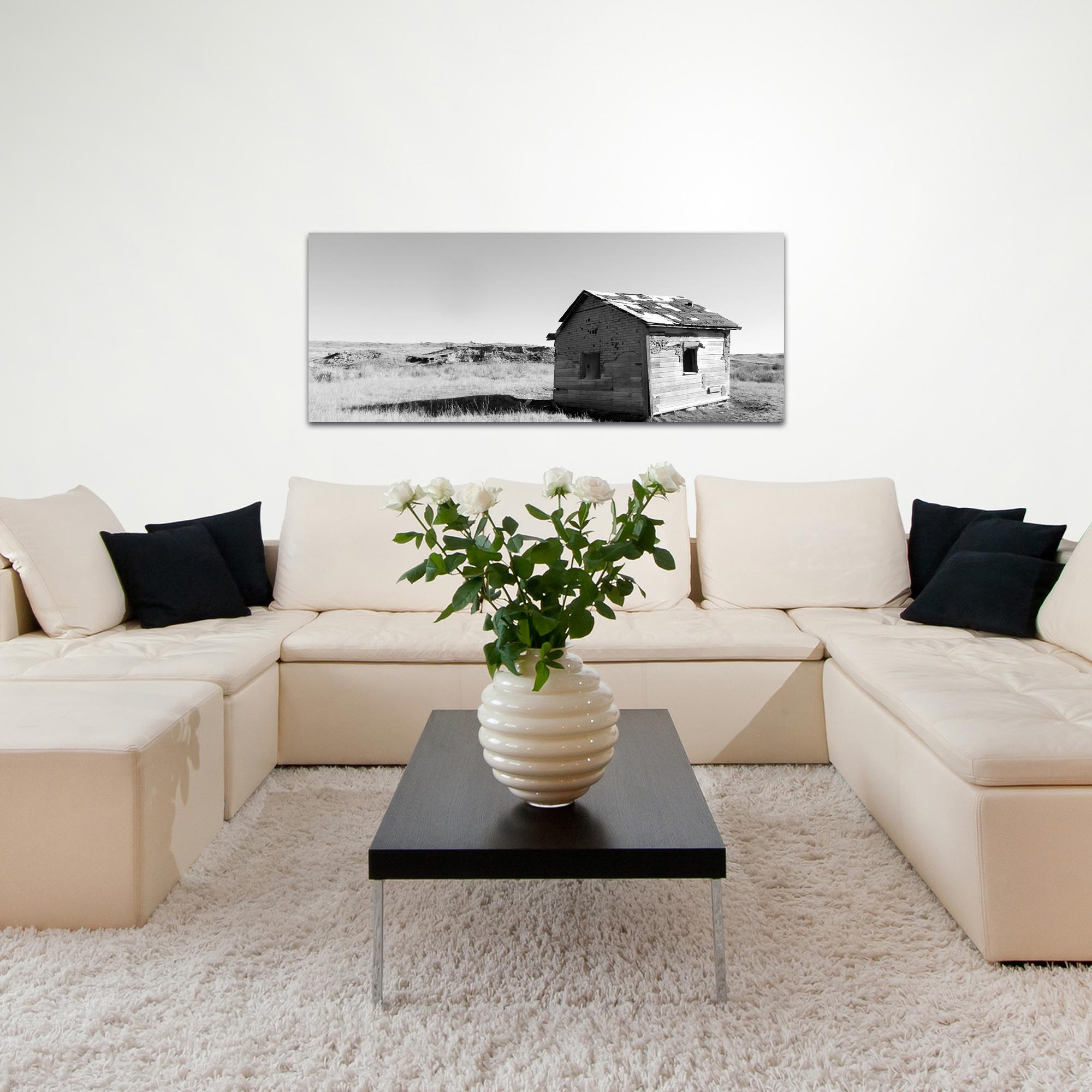 Western Wall Art 'The Shack' - American West Decor on Metal or Plexiglass - Lifestyle View
