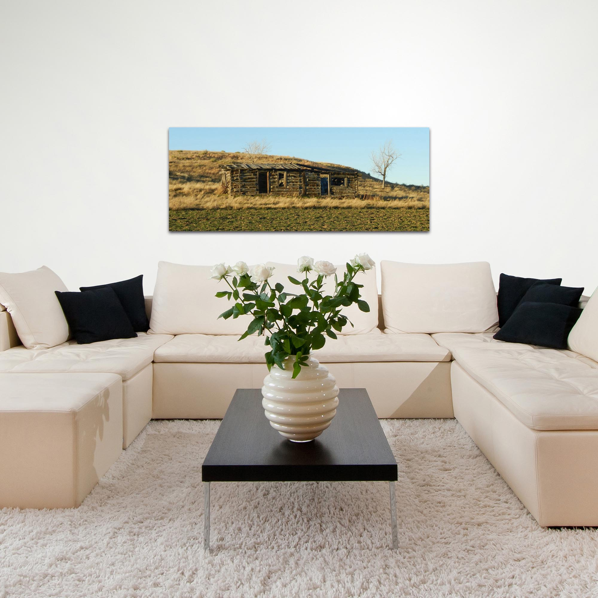 Western Wall Art 'The Hillside' - American West Decor on Metal or Plexiglass - Lifestyle View