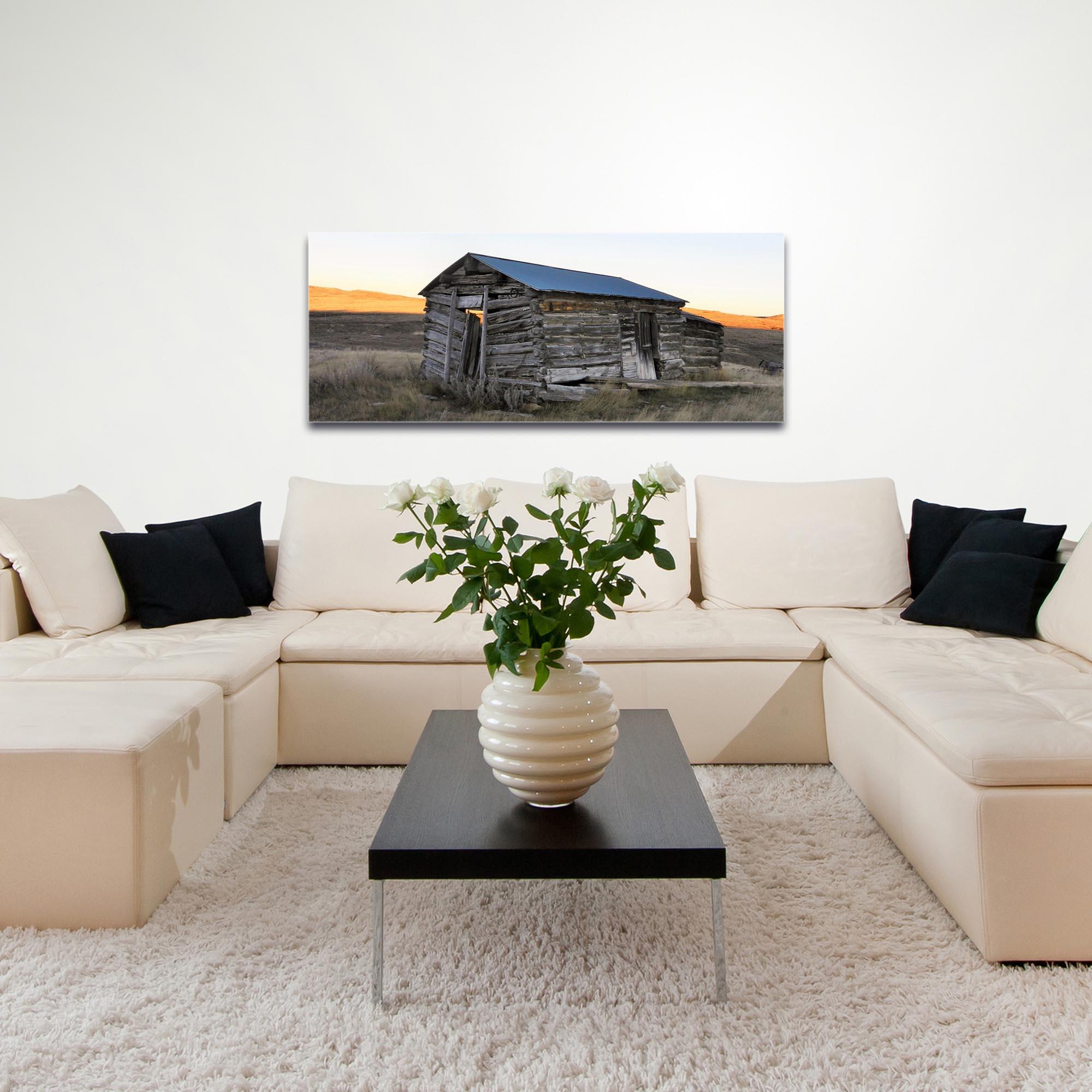 Western Wall Art 'The Log House' - American West Decor on Metal or Plexiglass - Image 3