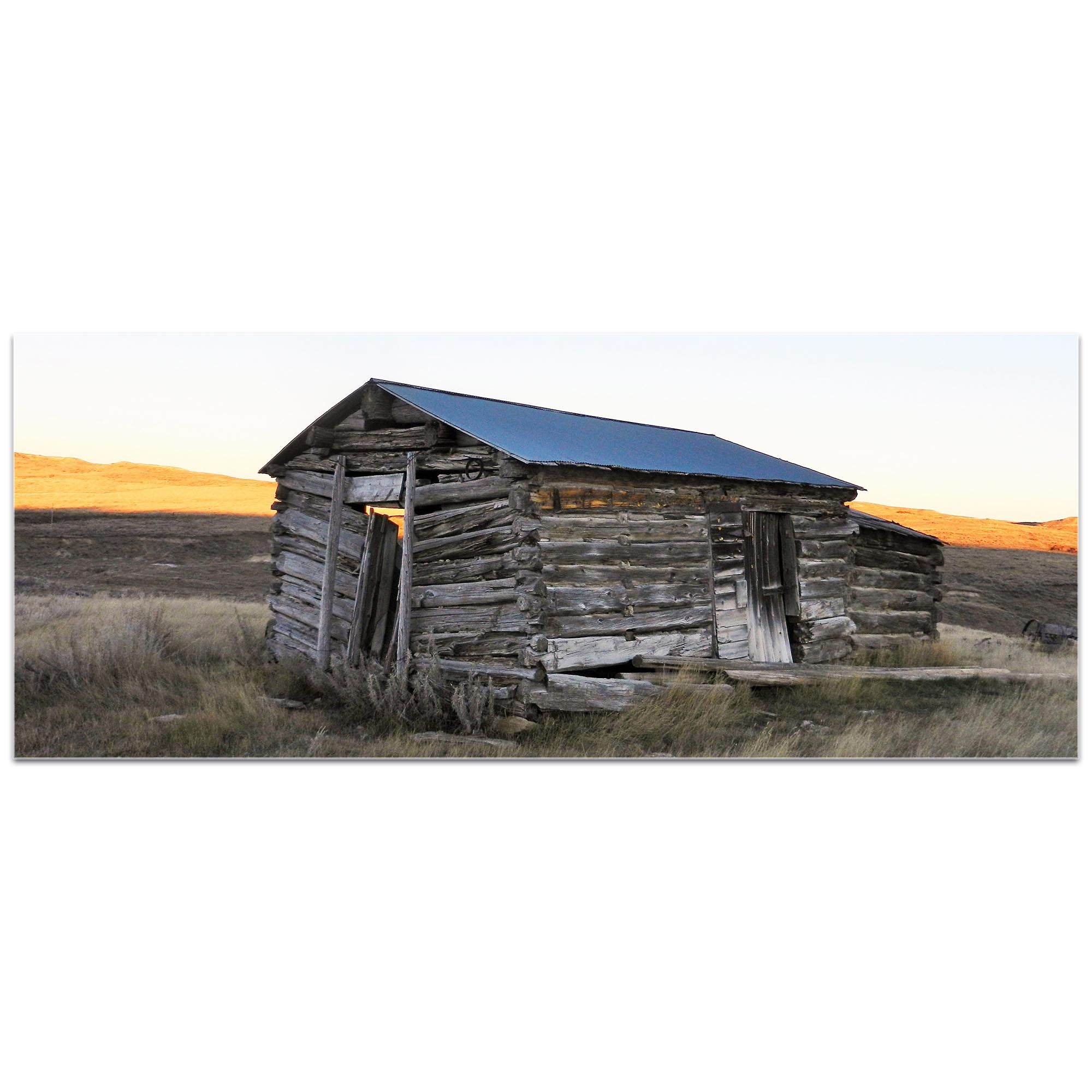 Western Wall Art 'The Log House' - American West Decor on Metal or Plexiglass - Image 2