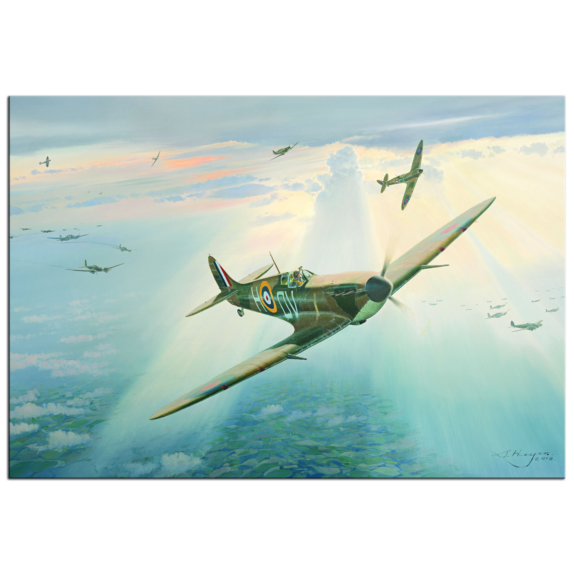 Spitfire - World War 2 Metal Wall Art