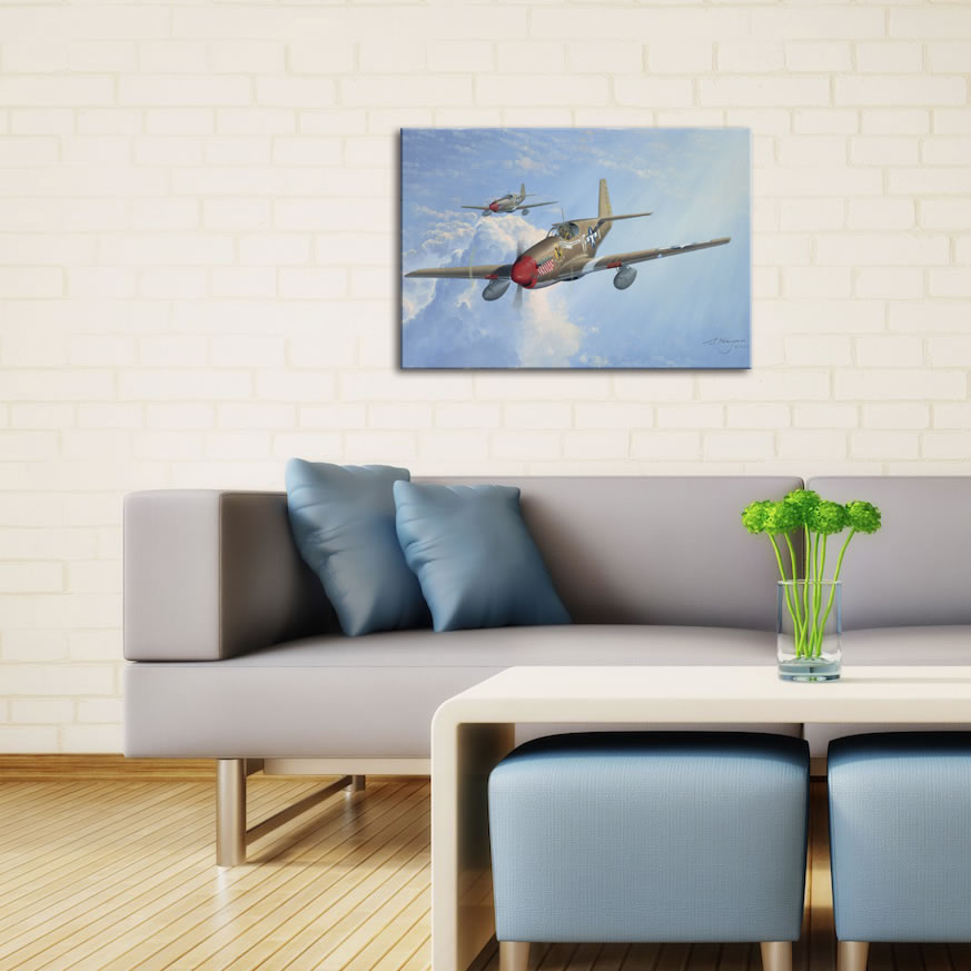 P51 - World War 2 Metal Wall Art - Lifestyle Image