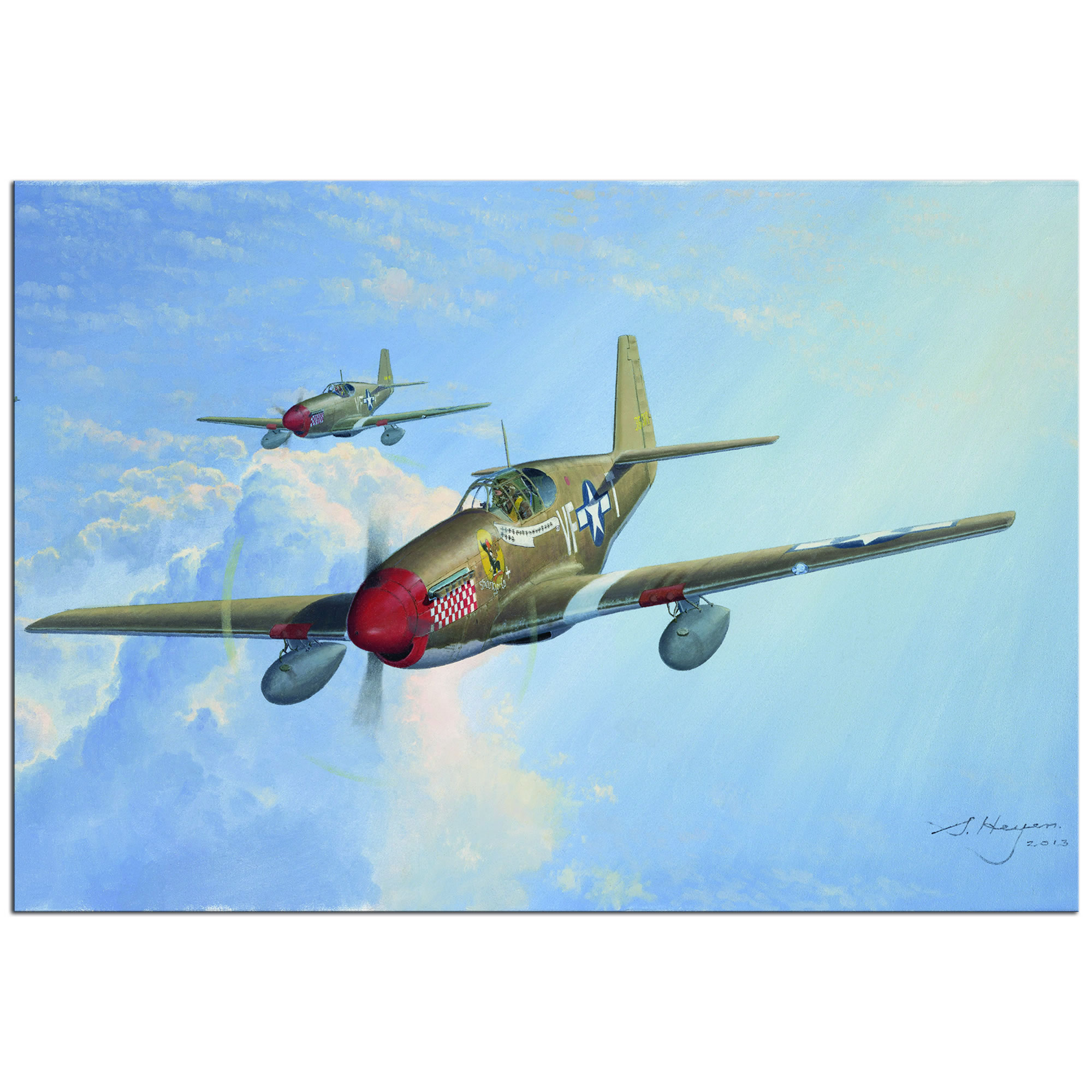 P51 - World War 2 Metal Wall Art