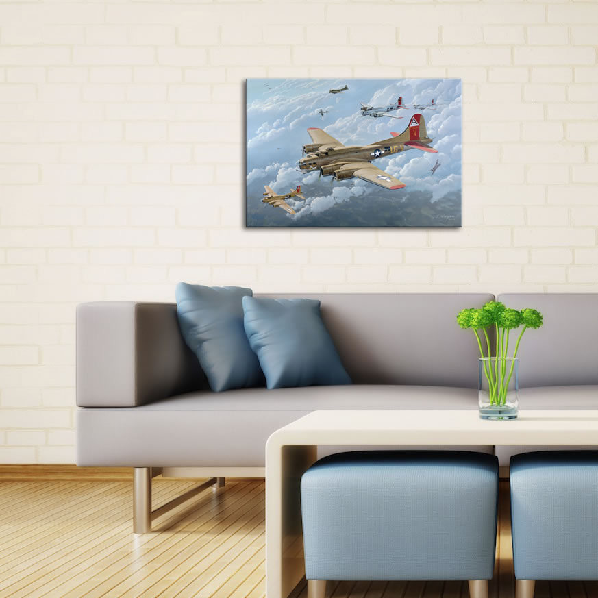 B17 - World War 2 Metal Wall Art - Lifestyle Image