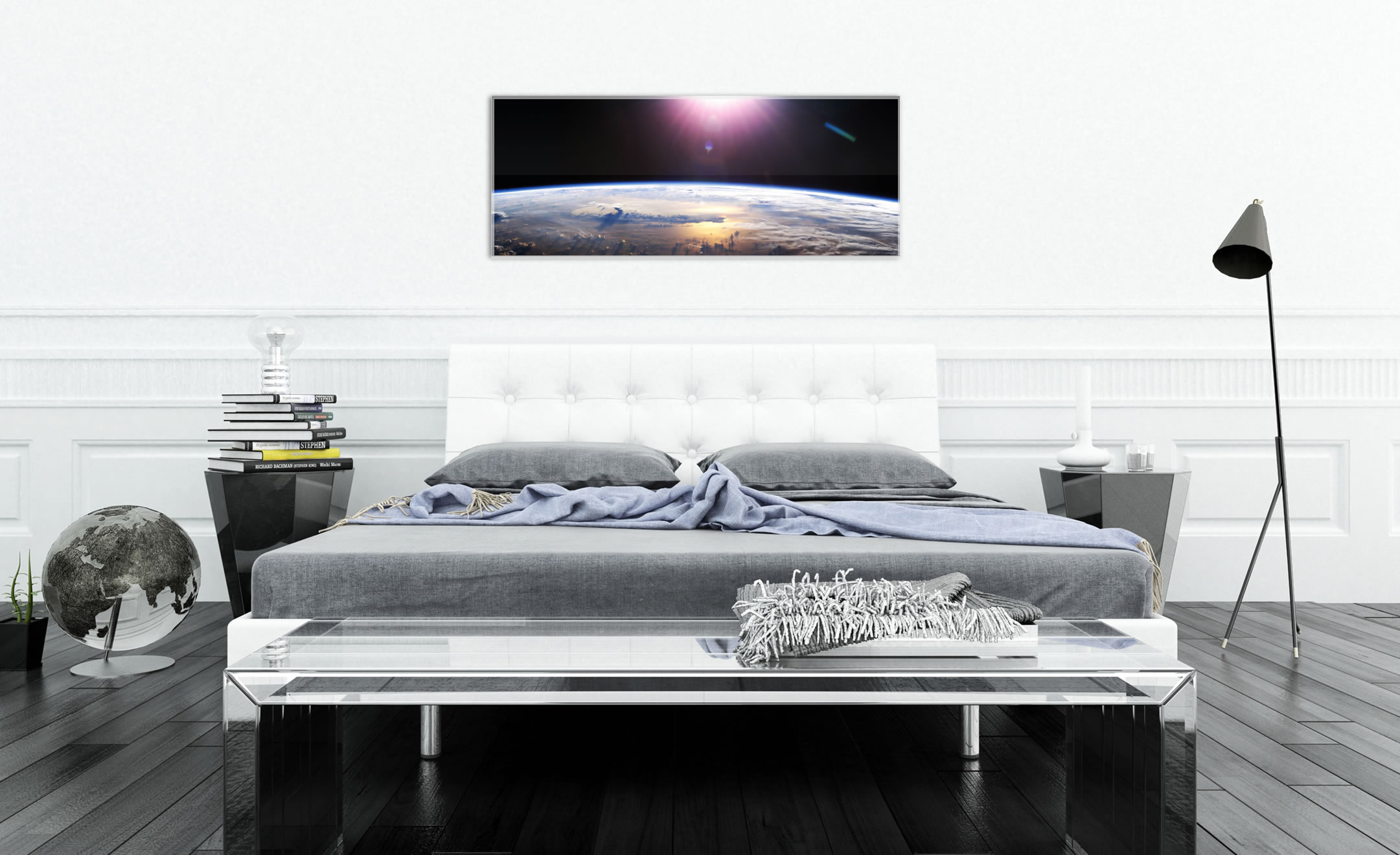 Good Morning Earth - Reverse-Printed Acrylic Art - Lifestyle Image