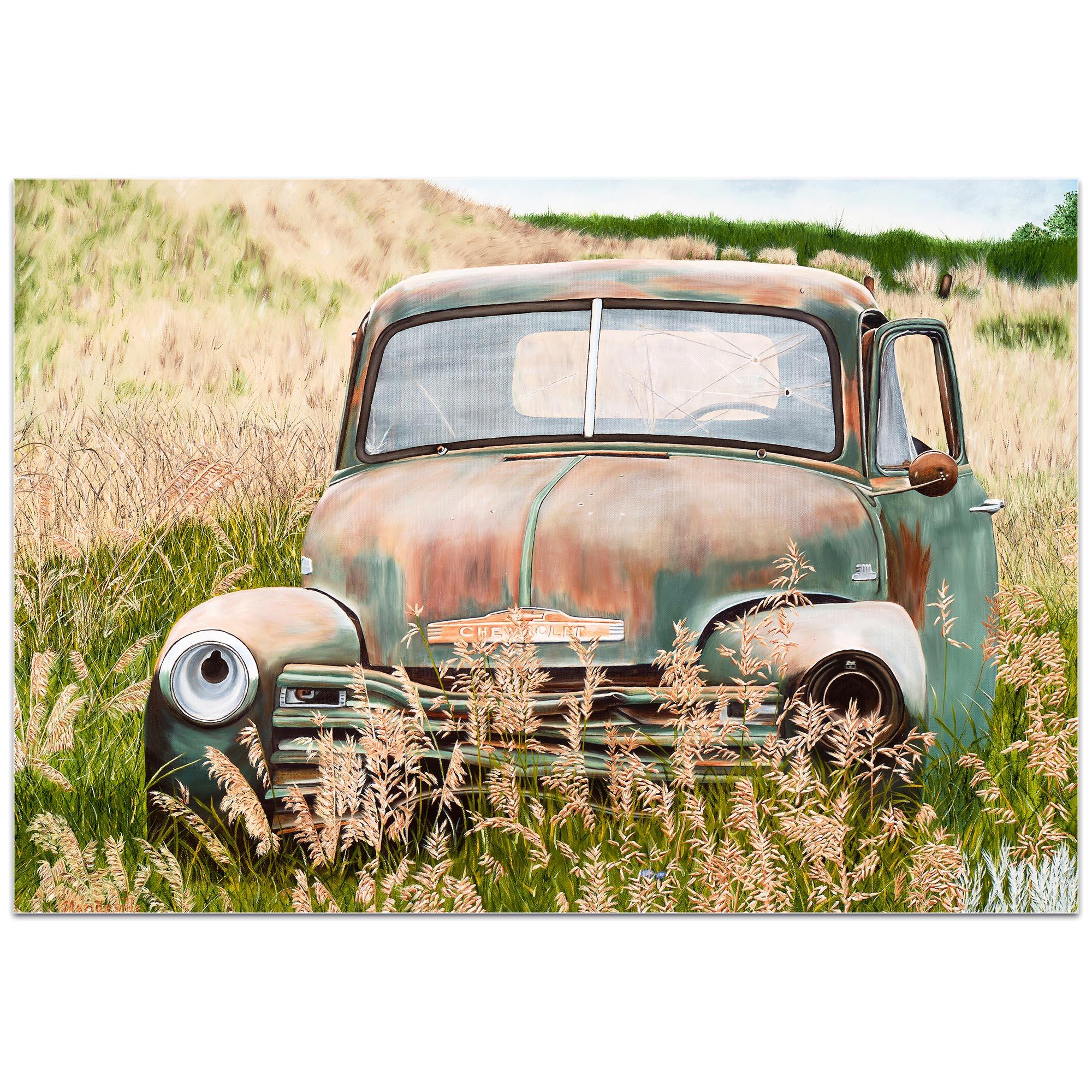 Americana Wall Art 'Franky's Truck' - Classic Trucks Decor on Metal or Plexiglass - Image 2