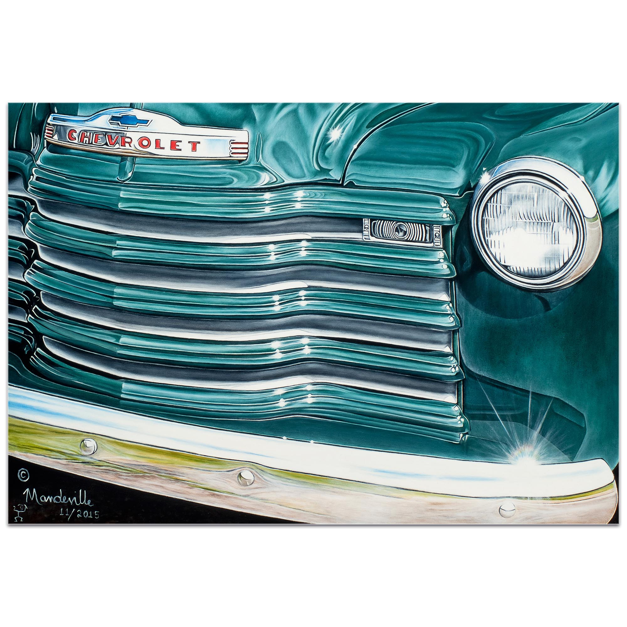 Americana Wall Art 'Grandpaz' - Classic Cars Decor on Metal or Plexiglass - Image 2