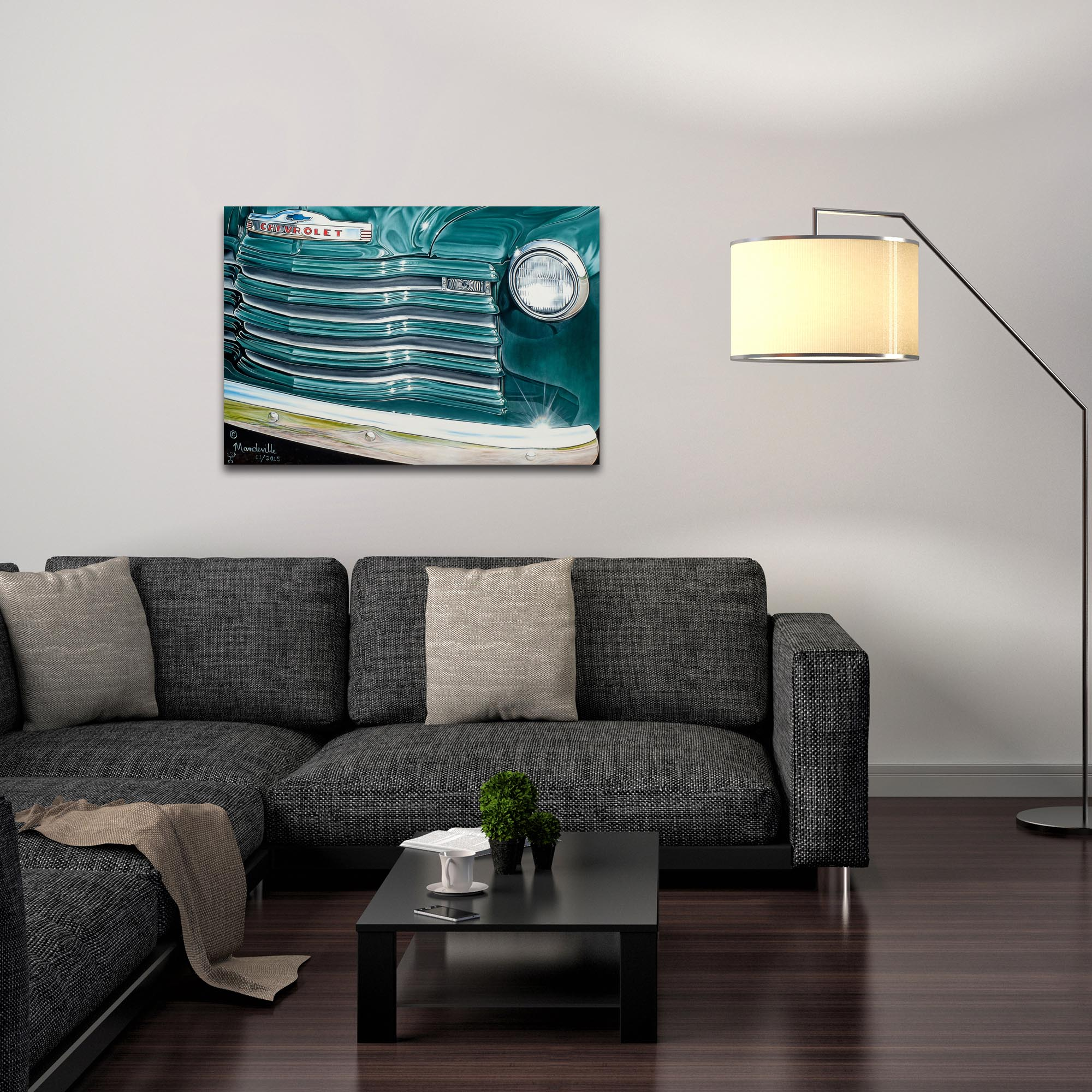 Americana Wall Art 'Grandpaz' - Classic Cars Decor on Metal or Plexiglass - Lifestyle View