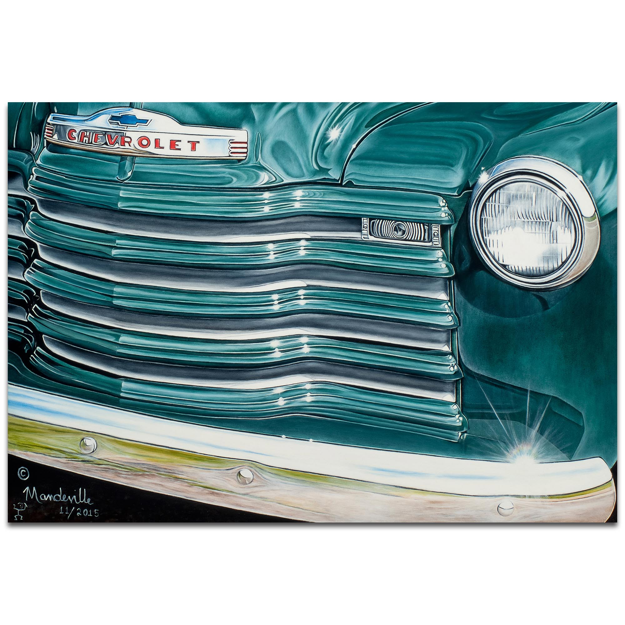Americana Wall Art 'Grandpaz' - Classic Cars Decor on Metal or Plexiglass