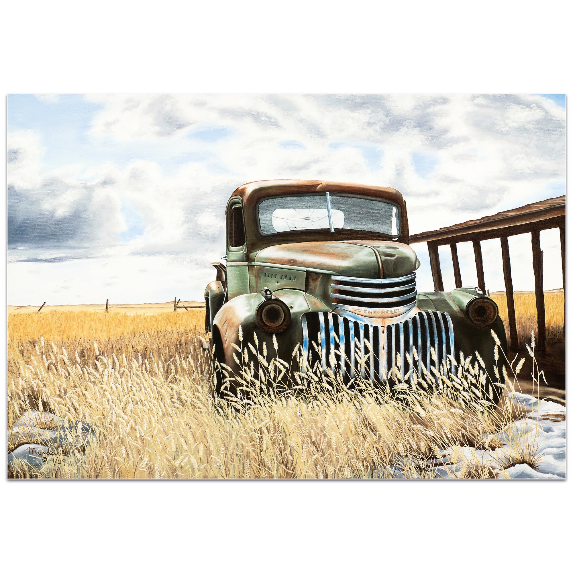 Americana Wall Art 'Swede's Old Truck' - Classic Trucks Decor on Metal or Plexiglass - Image 2