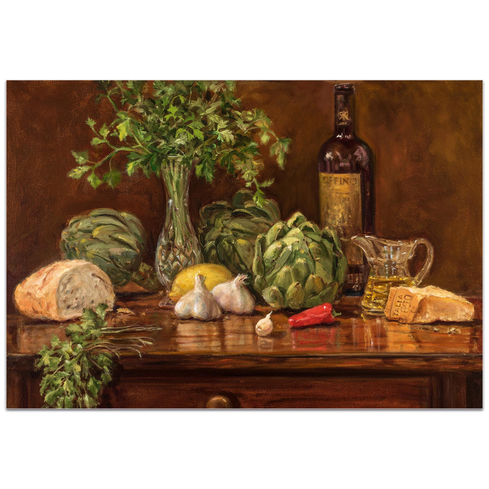 Traditional Wall Art 'Artichoke' - Still Life Decor on Metal or Plexiglass - Image 2