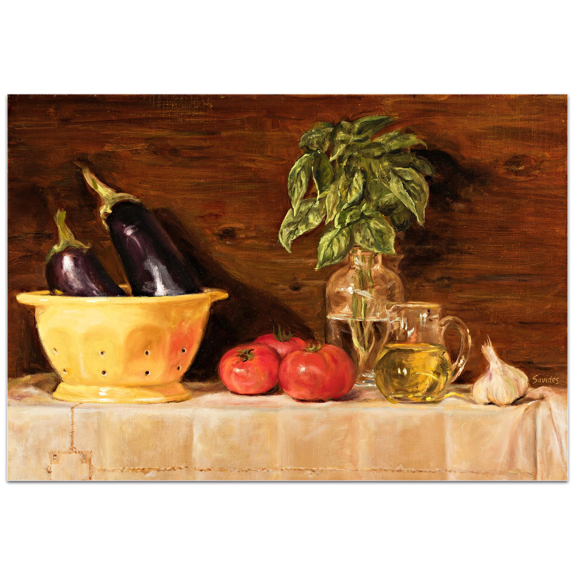 Traditional Wall Art 'Eggplant' - Still Life Decor on Metal or Plexiglass - Image 2