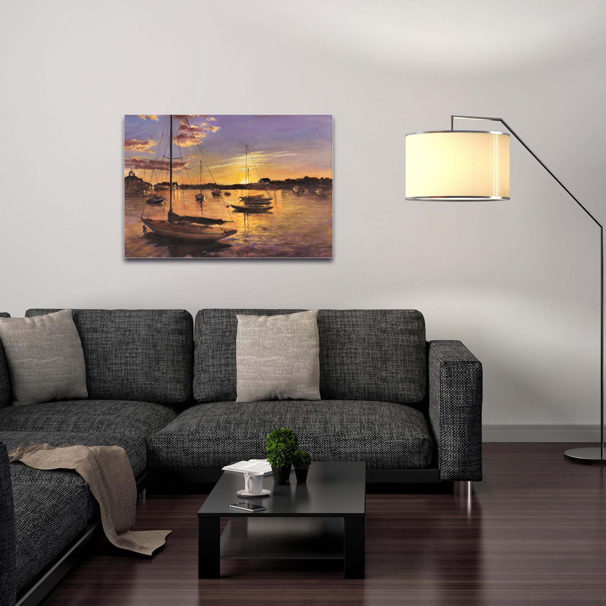 Coastal Wall Art 'Harbor 1' - Boats Decor on Metal or Plexiglass - Image 3