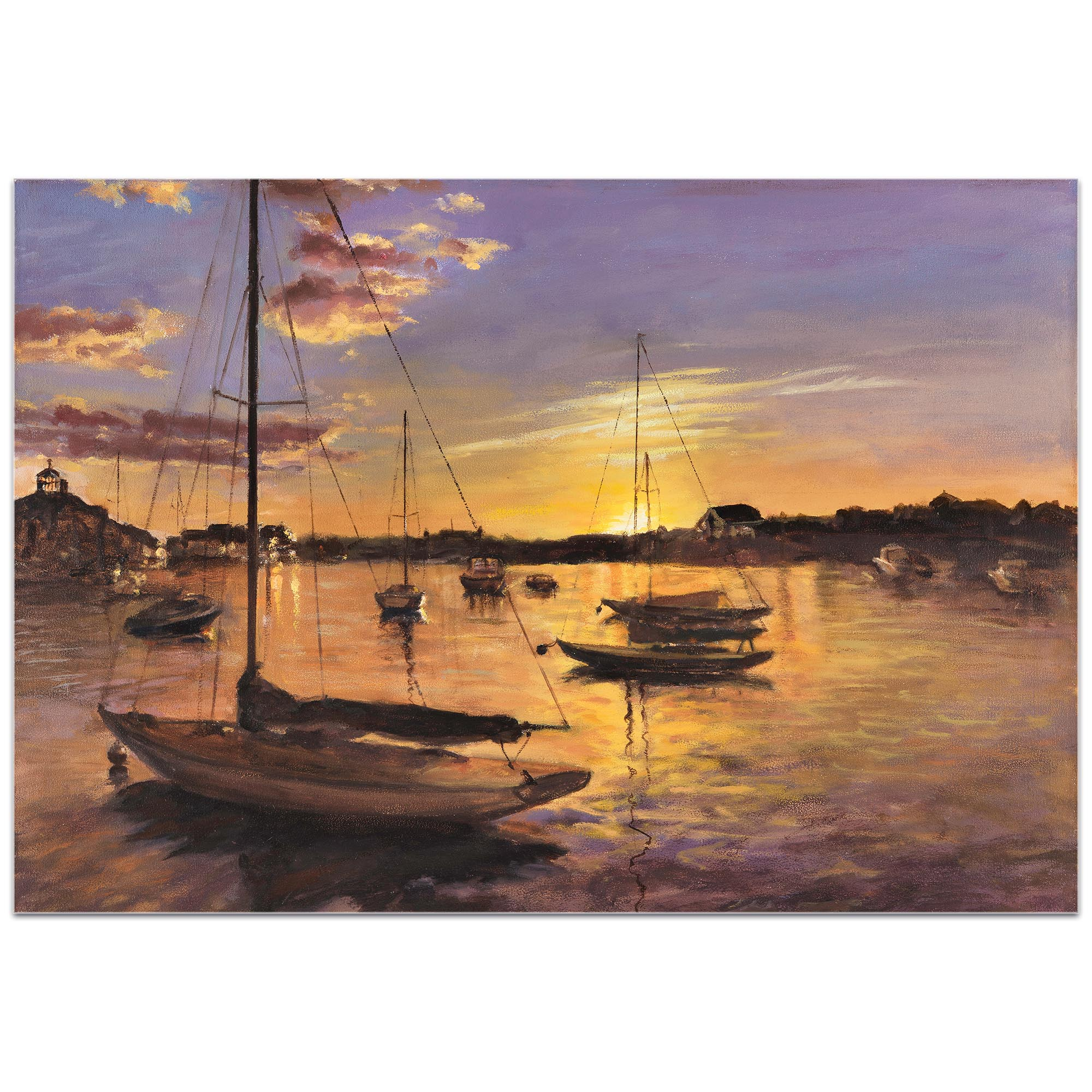 Coastal Wall Art 'Harbor 1' - Boats Decor on Metal or Plexiglass - Image 2