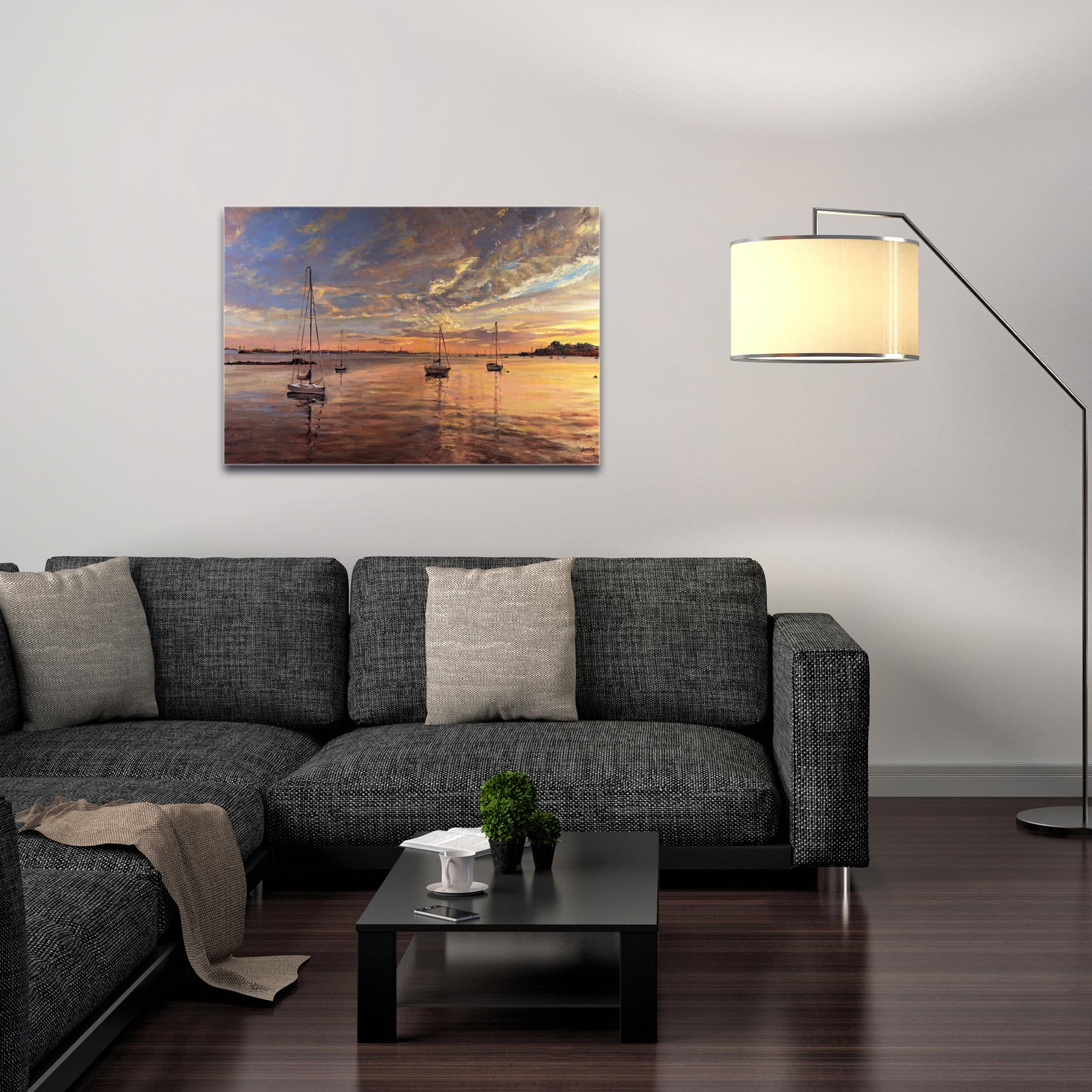 Coastal Wall Art 'Harbor 2' - Boats Decor on Metal or Plexiglass - Image 3