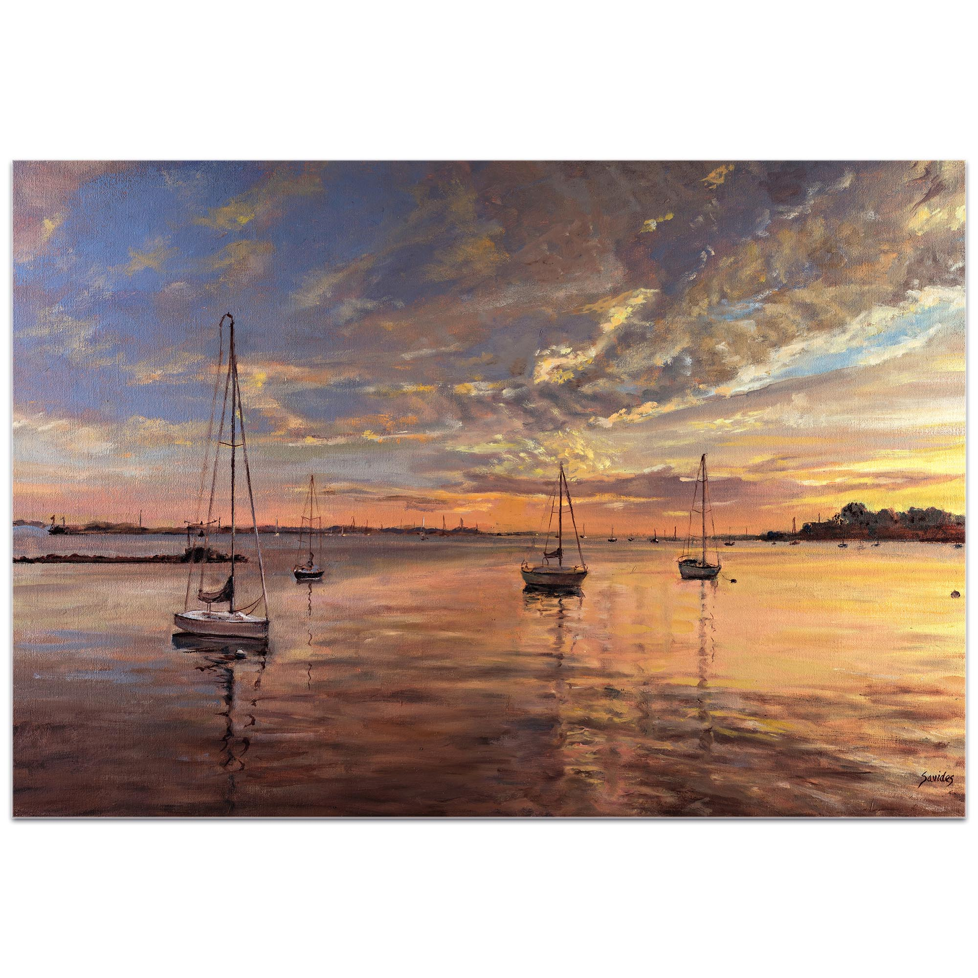 Coastal Wall Art 'Harbor 2' - Boats Decor on Metal or Plexiglass - Image 2
