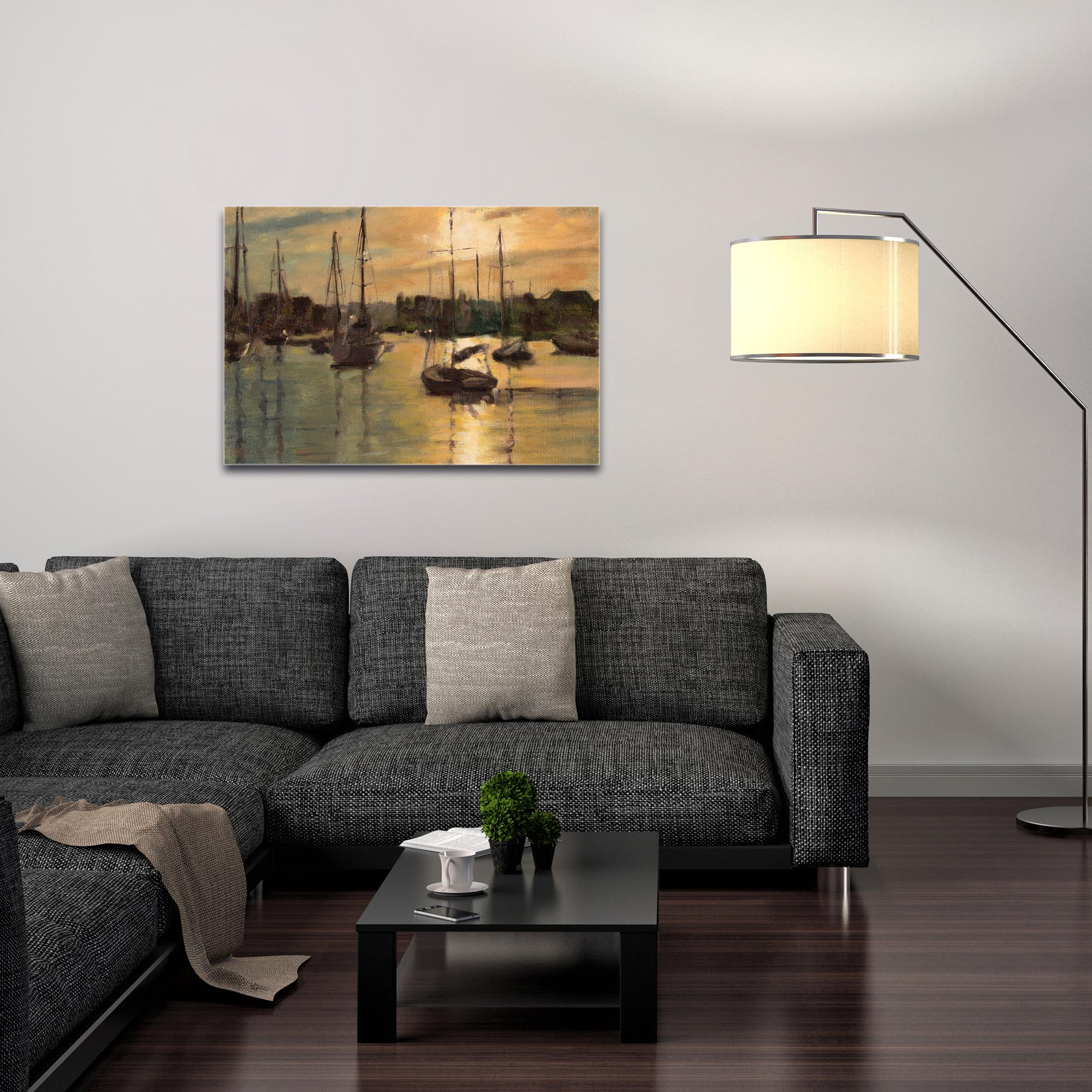 Coastal Wall Art 'Harbor 3' - Boats Decor on Metal or Plexiglass - Image 3