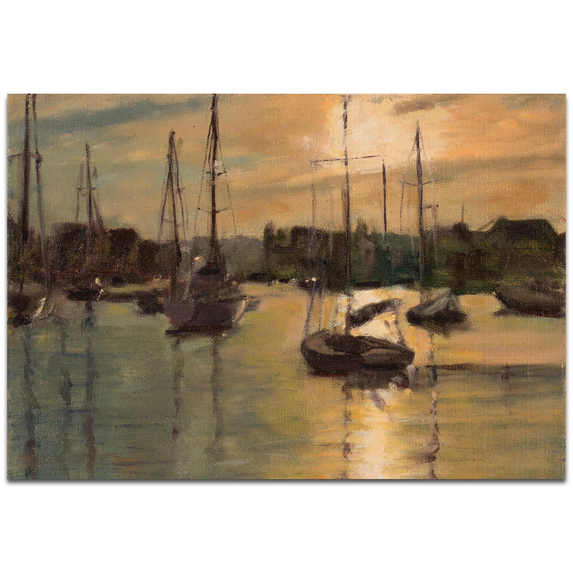 Coastal Wall Art 'Harbor 3' - Boats Decor on Metal or Plexiglass