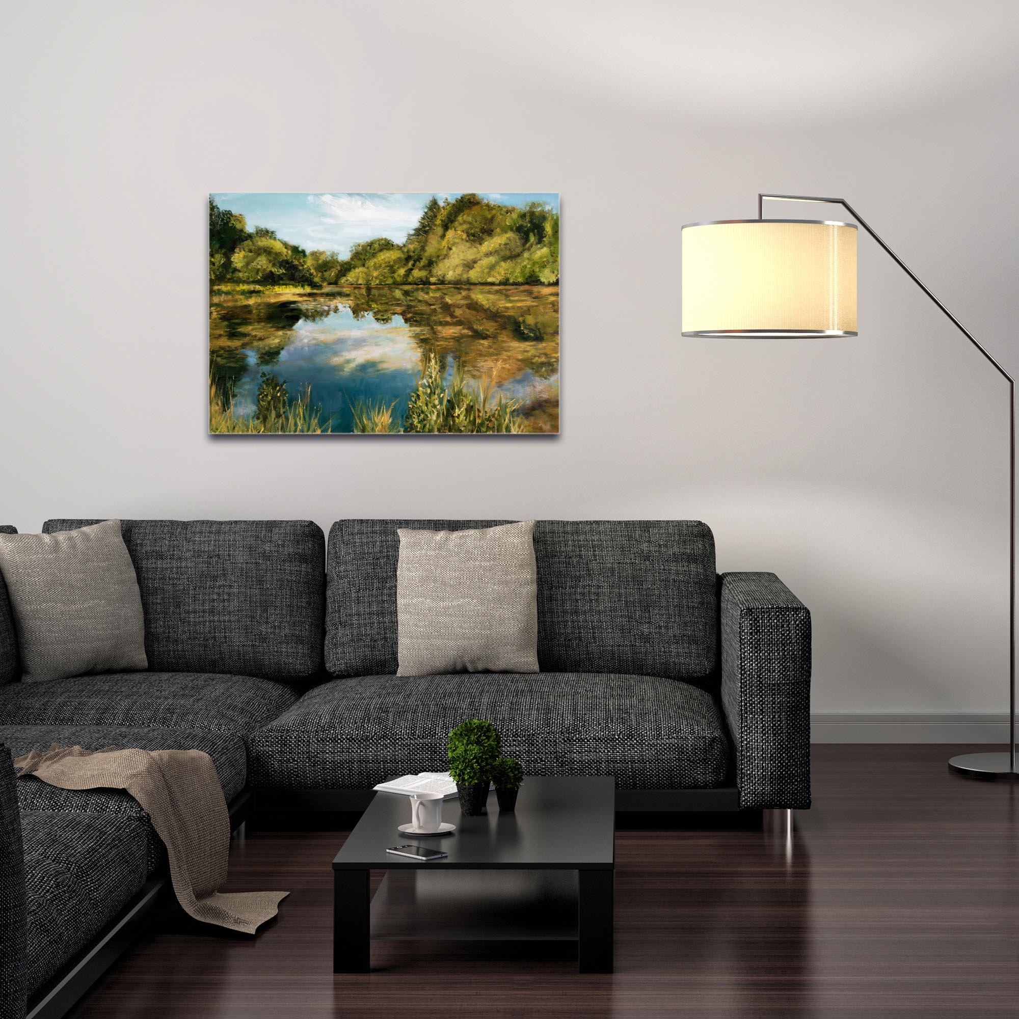 Traditional Wall Art 'Lake' - River Landscape Decor on Metal or Plexiglass - Image 3