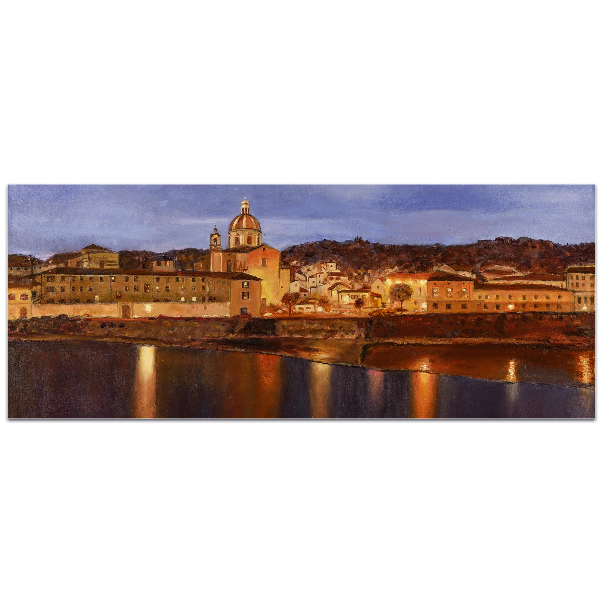Traditional Wall Art 'Midnight in Florence' - Italian City Decor on Metal or Plexiglass - Image 2