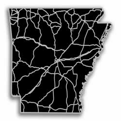 Arkansas - Acrylic Cutout State Map - Black/Grey USA States Acrylic Art