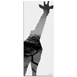 GIRAFFE SAVANNA - 48x19 in. Metal Animal Print