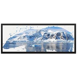 Adam Schwoeppe Polar Bear Arctic Framed 48in x 19in Contemporary Animal Silhouette Art on Colored Metal