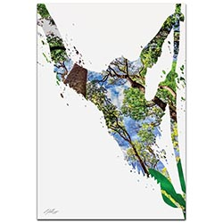 Monkey Jungle by Adam Schwoeppe Animal Silhouette on White Metal
