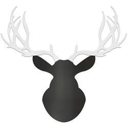 MODERN BUCK - 36x36 in. Black & White Deer Cut-Out