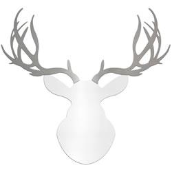 REGAL BUCK - 36x36 in. White & Silver Deer Cut-Out